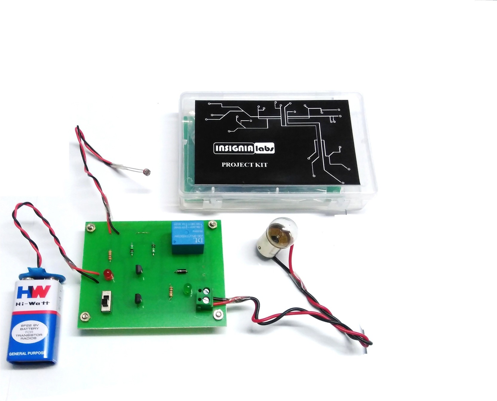 Insignia Labs Ldr Sensor Based Light Bulb Control Project Kit Image Working Of An In A Circuit Add To Cart