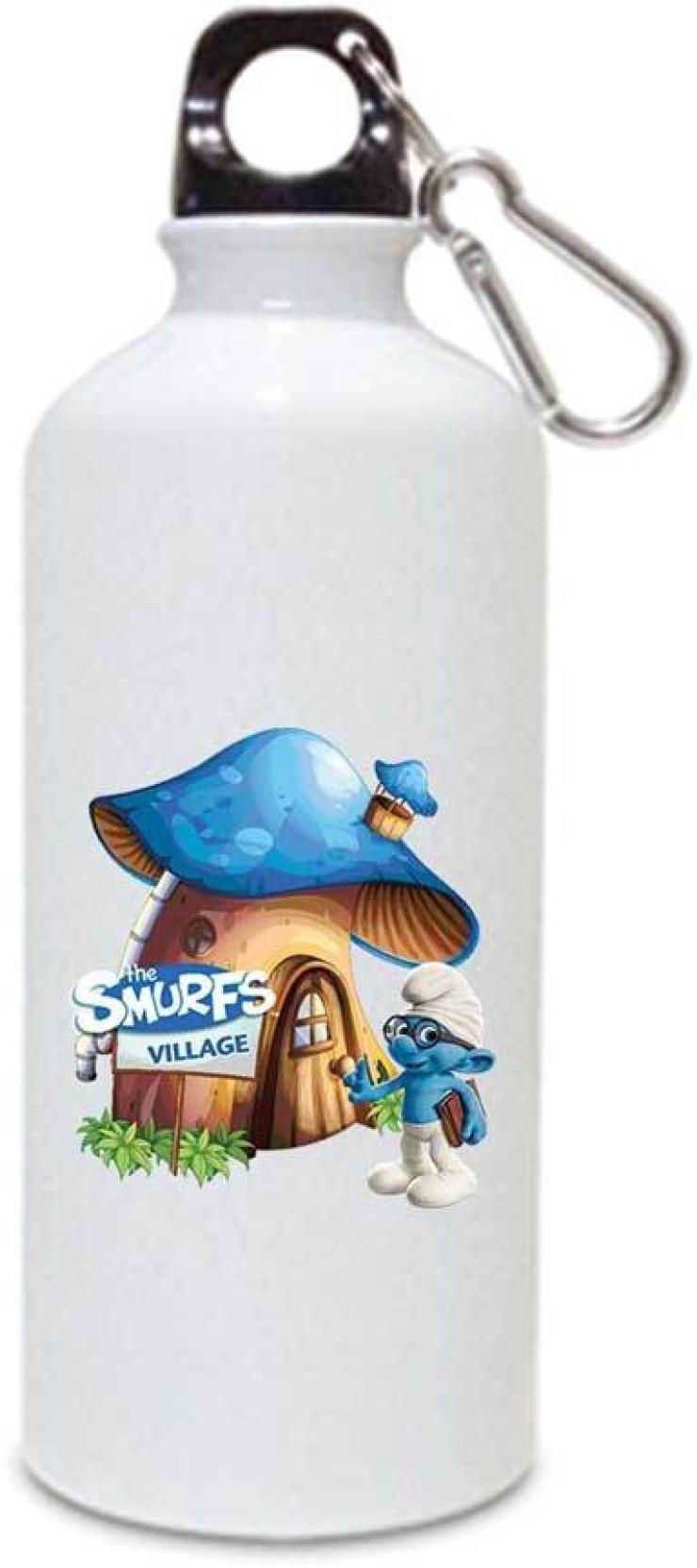 Juvixbuy The Smurfs Village White Sipper / Water Bottle ( Aluminium