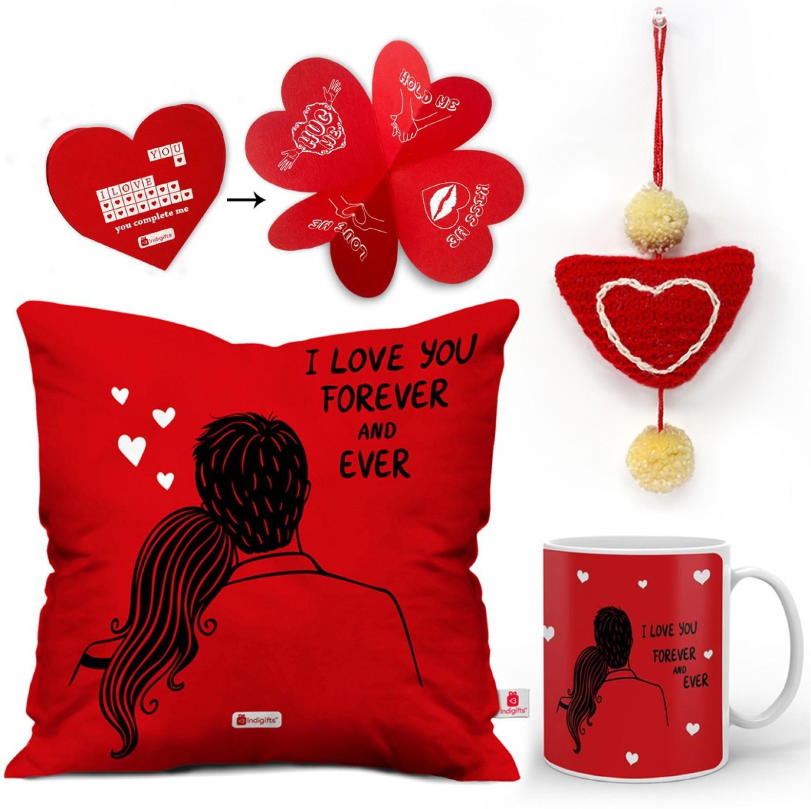 Indi ts Love Gift 0D 0CM066 0LOV Y16 D025 Cushion Mug Showpiece