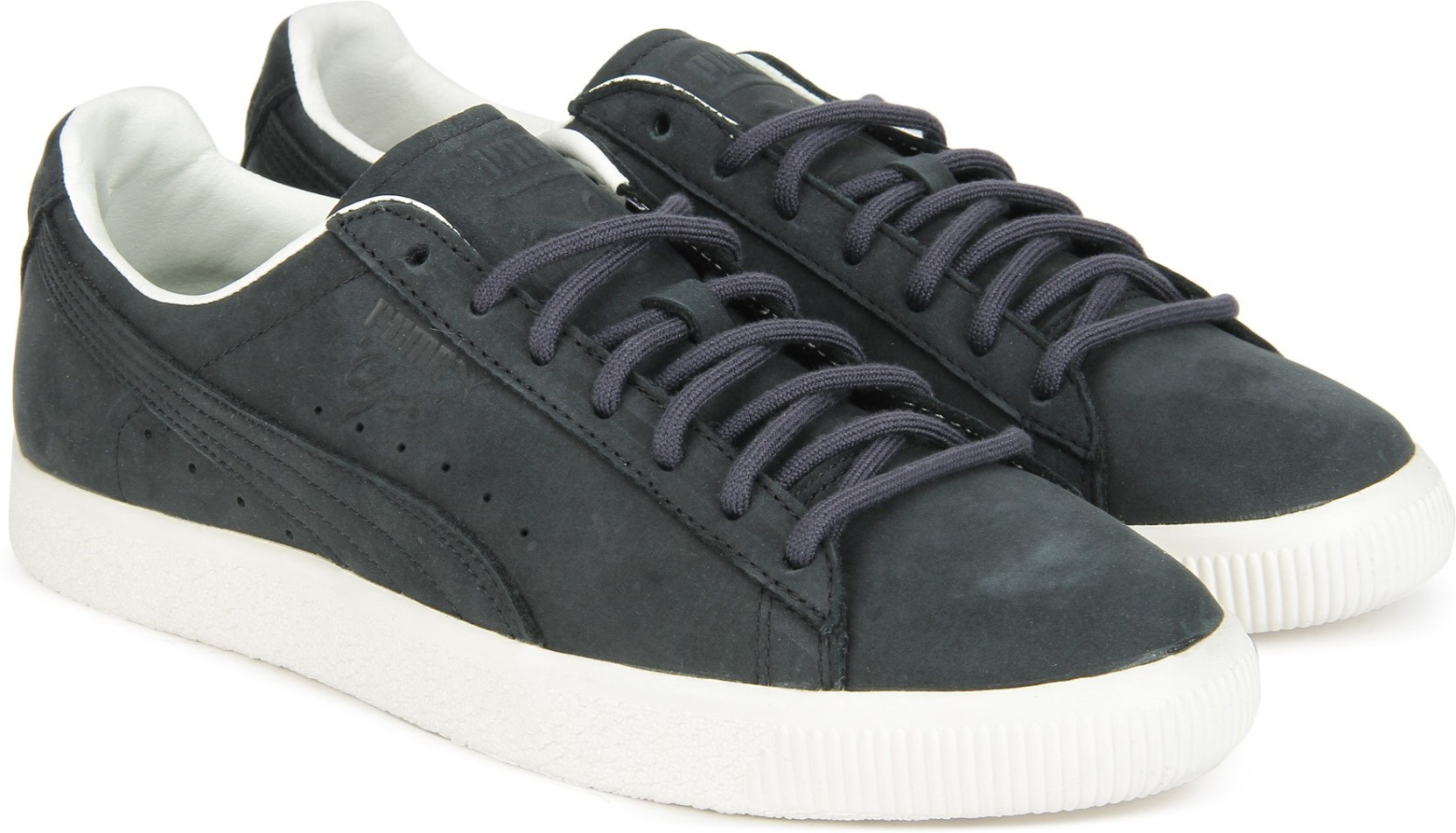 Puma Clyde Frosted Sneakers For Men - Buy Puma Black-Puma Black ... a19ccc192