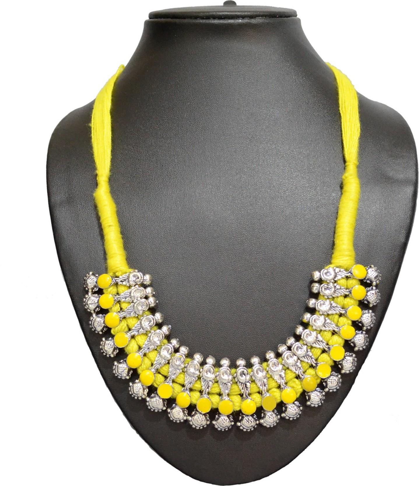 561dc5b570 ... Handmade Tribal Oxidized White Metal Dori Work Jewellery for Girls and  Women. Share