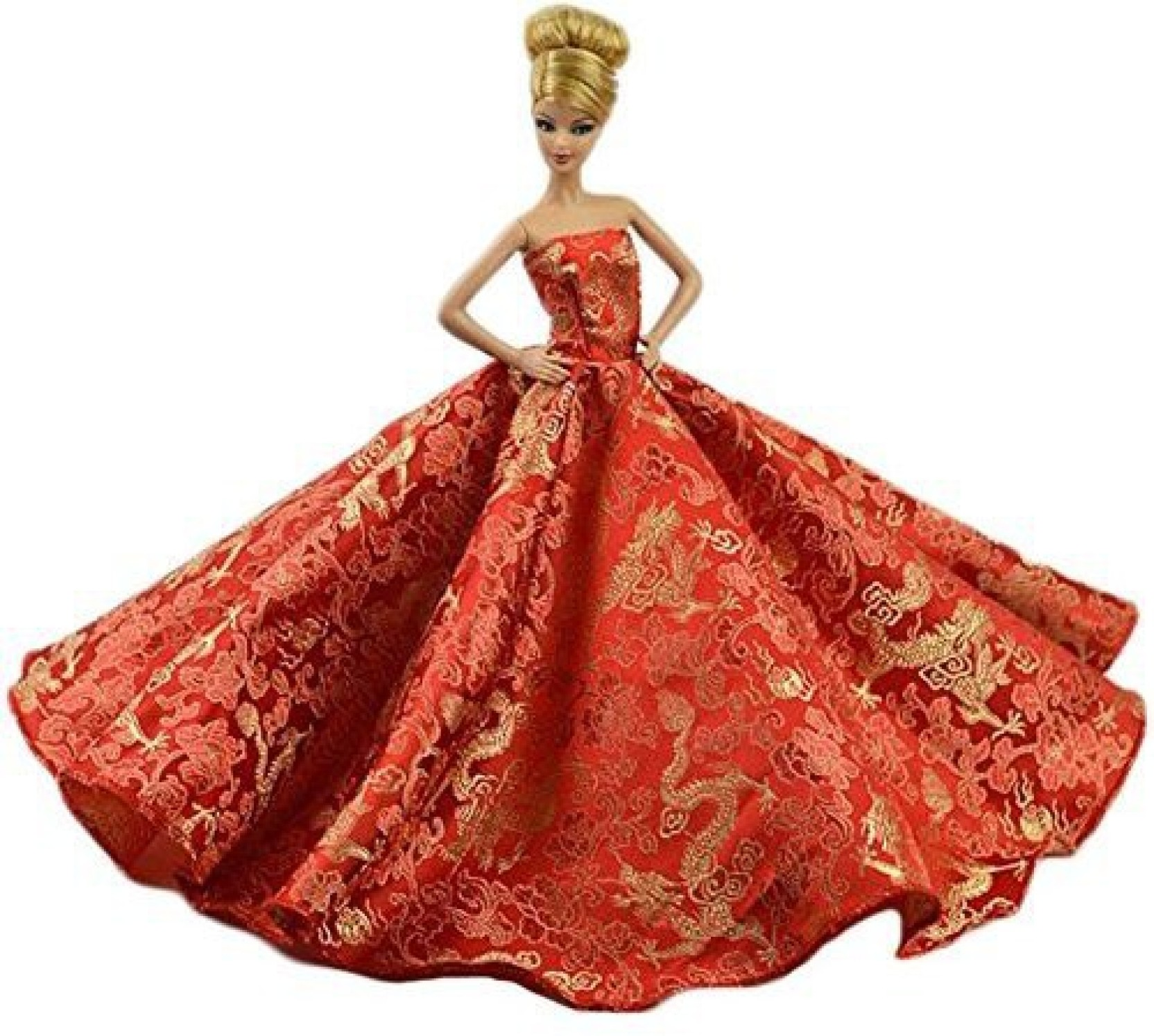 Generic Red Chinese Style Gorgeous Wedding Dress Party Gown For