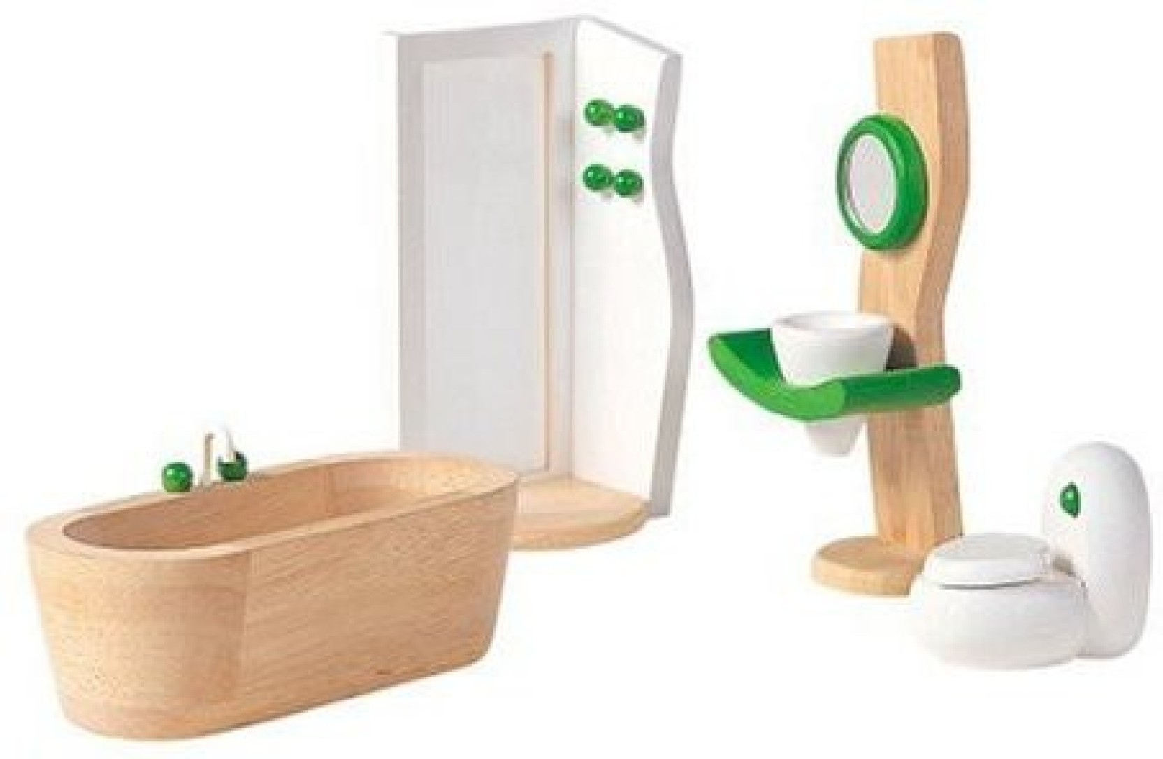 Plan toys dollhouse bathroom dcor on offer