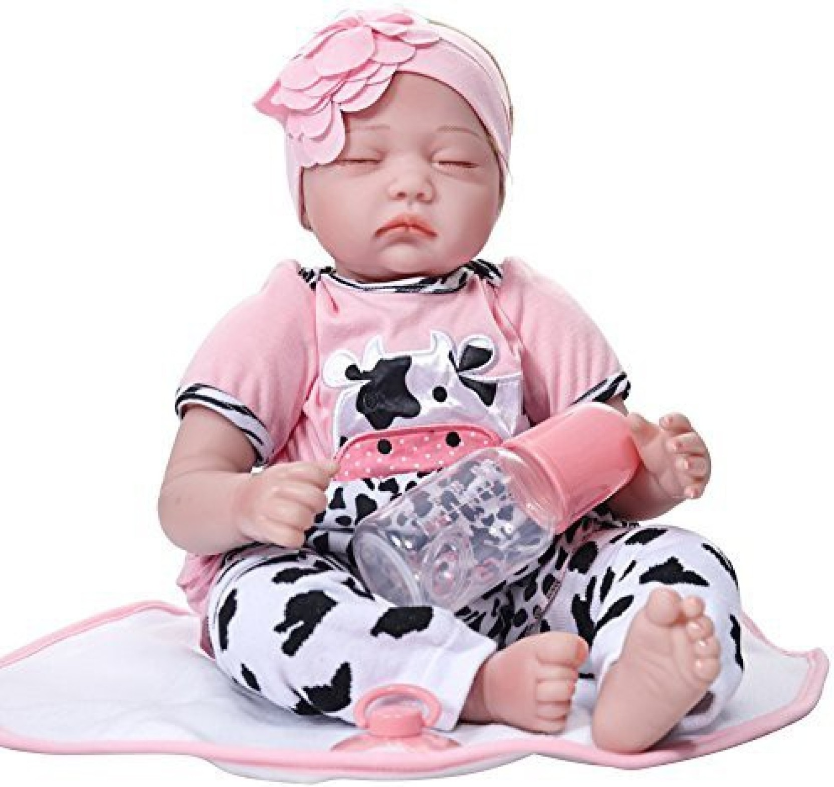 174be6924 Generic Lifelike Reborn Baby Doll Closed Eye Simulate Silicone Accompany  Sleeping Doll Toy For Kids Girls Boys Play House Games Toddlers (Multicolor)