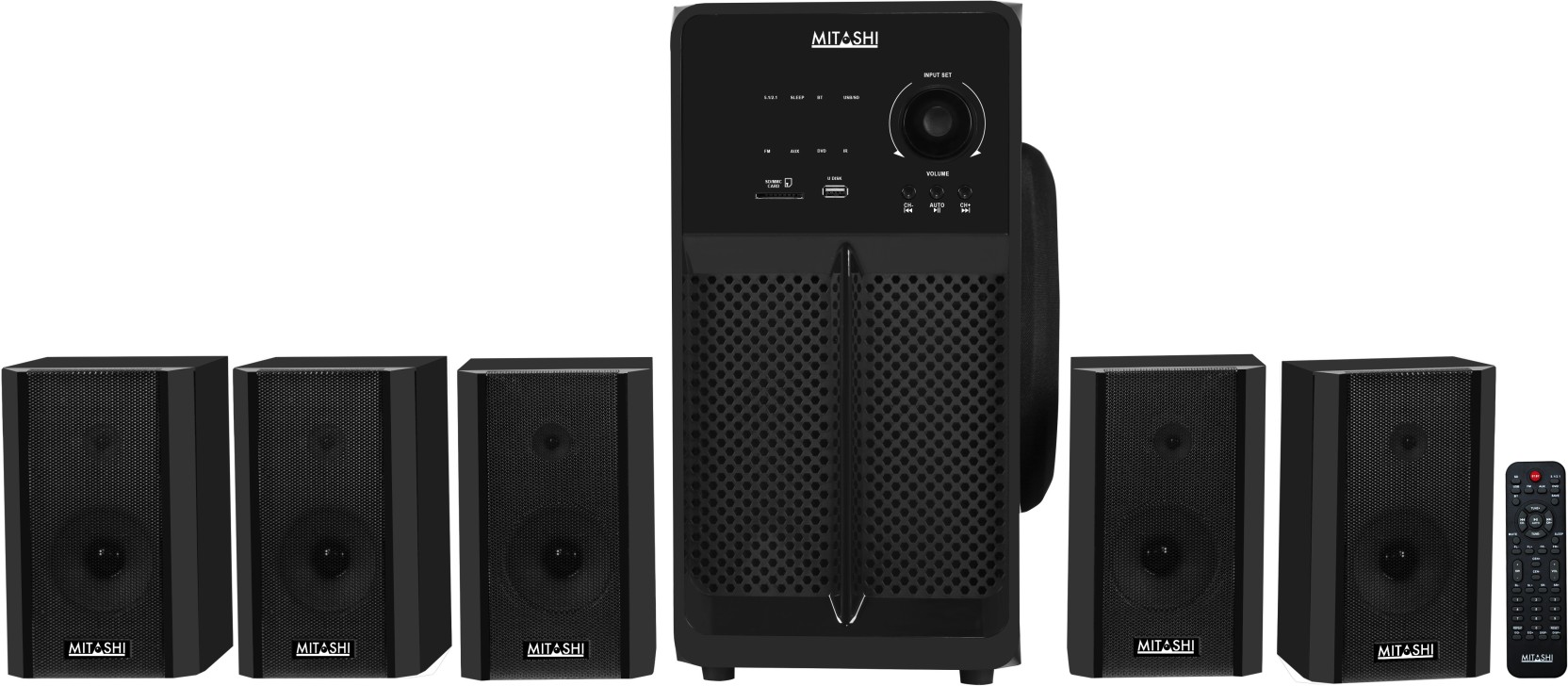 Buy Mitashi 12500 Watts Pmpo 51 Ch Ht 8150 Bt Home Theatre Electronics Gt Tv Video Audio Speakers Subwoofers System With Bluetooth Add To Cart