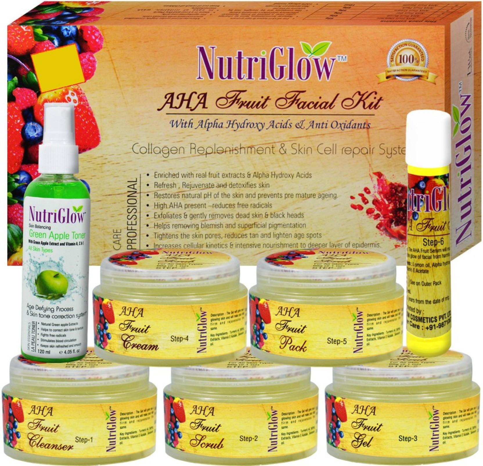 Circuito Alpha : Nutriglow aha fruit facial kit with alpha hydroxy acids anti