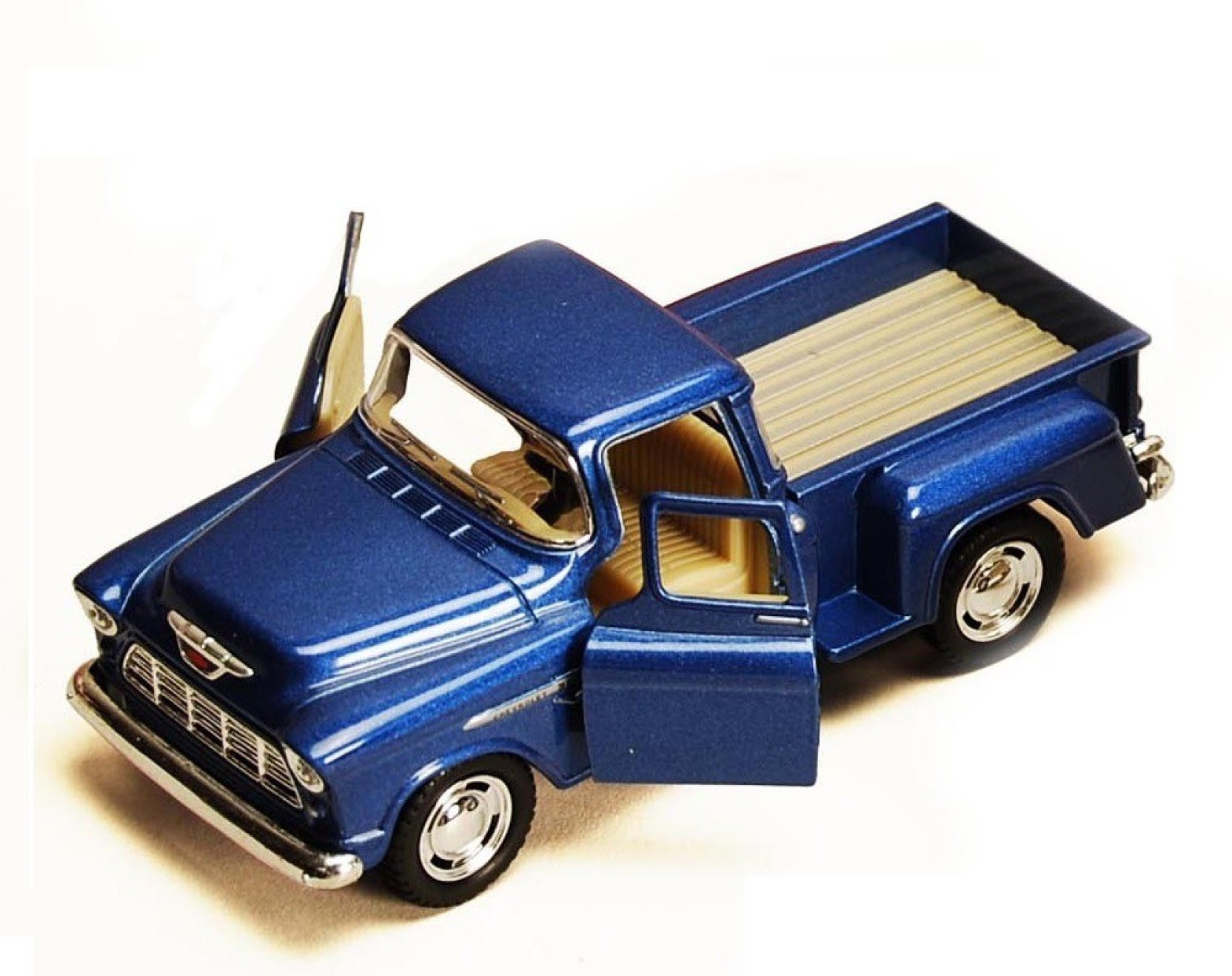 Kinsmart 5 132 Scale 1955 Chevy Stepside Pickup Diecast Model Door Ford F100 Add To Cart