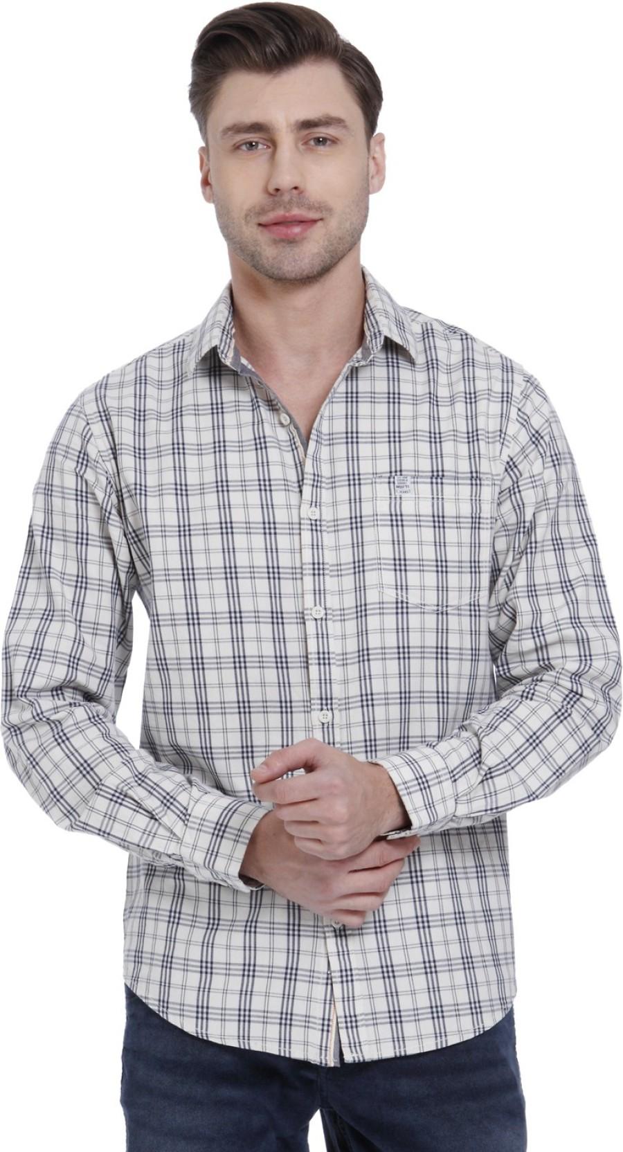 edc79515c59 Mufti Men Checkered Casual Beige Shirt - Buy Mufti Men Checkered ...