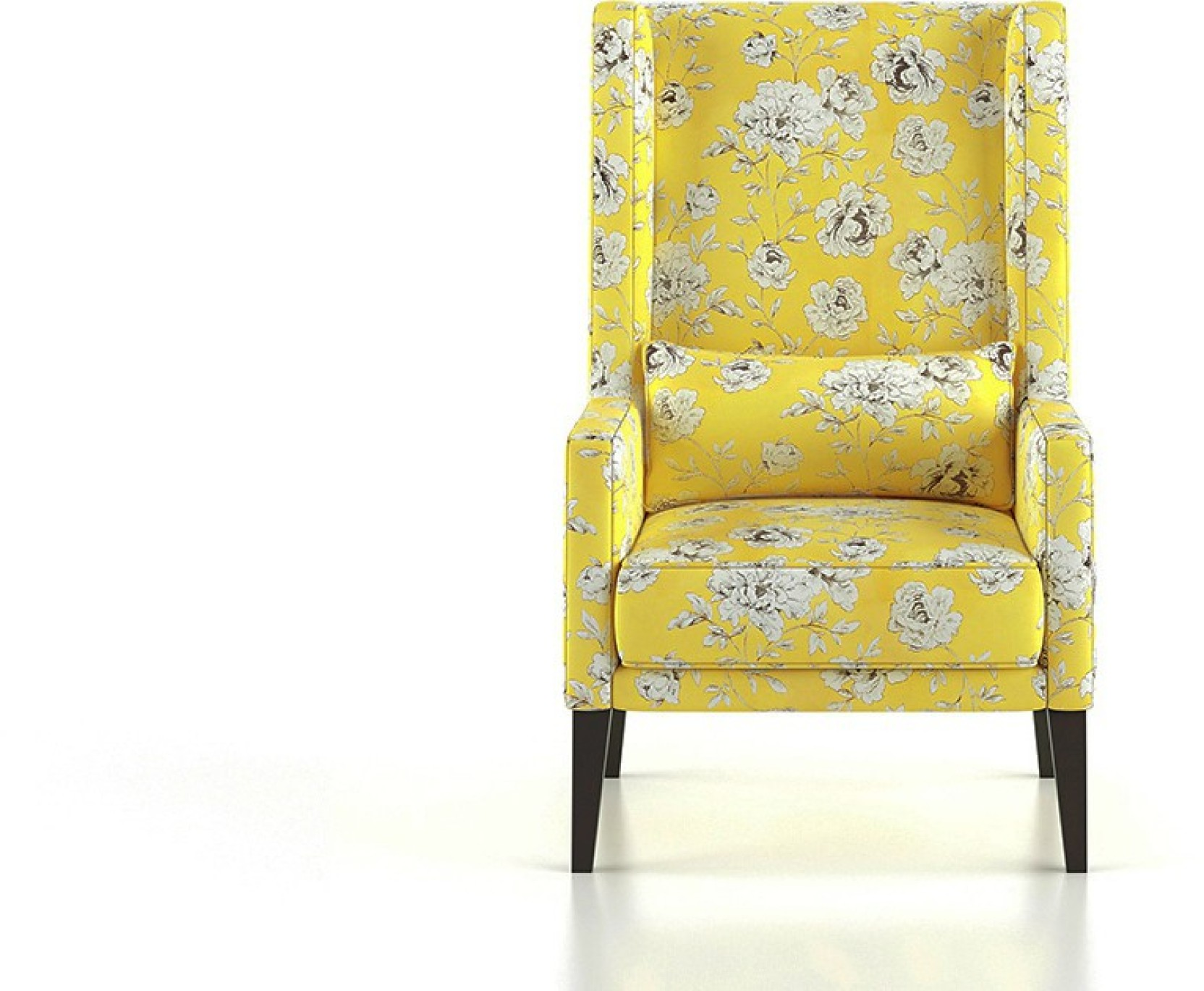 Urban Ladder Morgen Wing Chair & Ottoman (Colour : sunkissed blooms ...