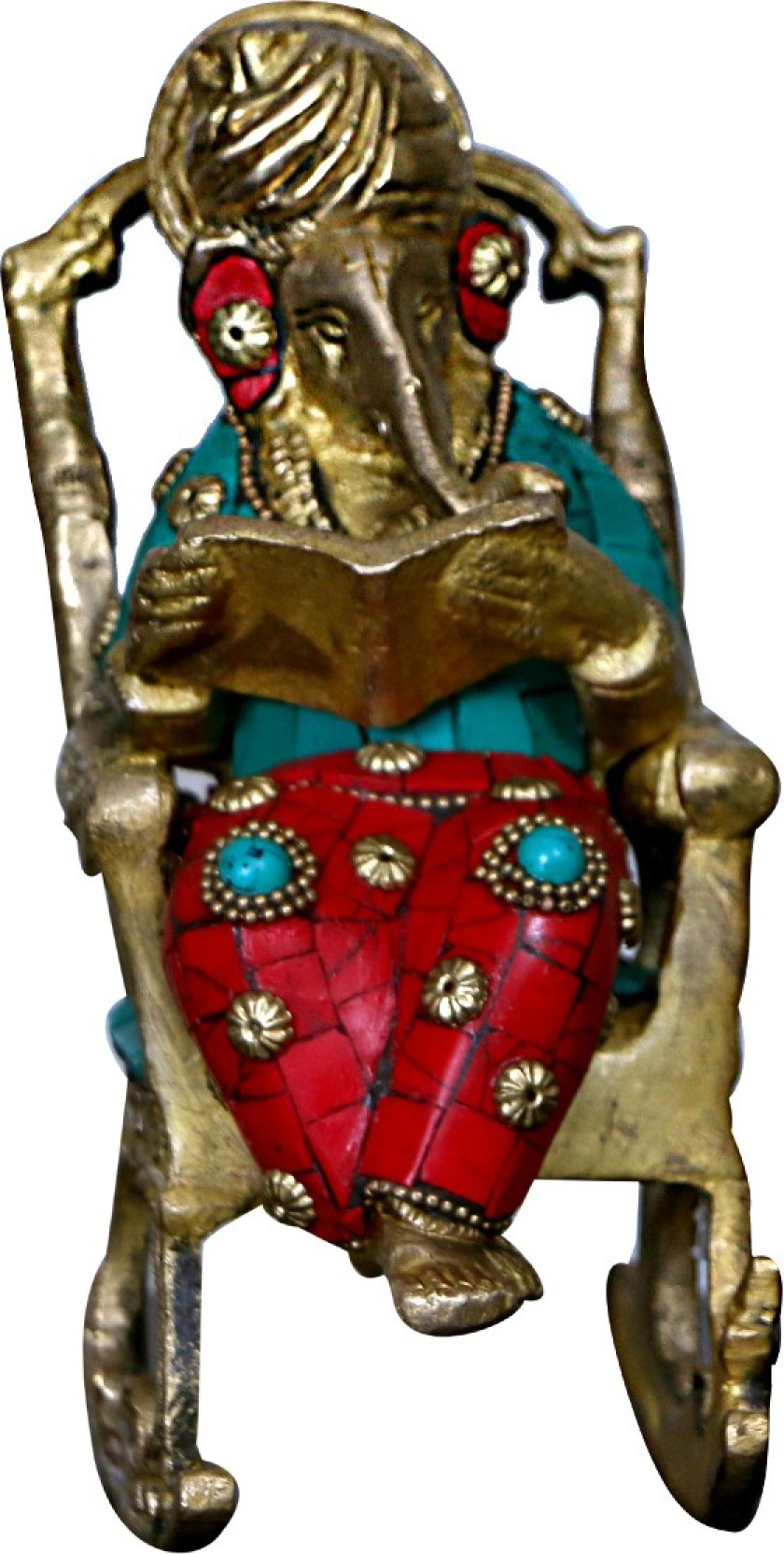 Peachy Crafthut Ganesha Statue Ramayan Reading Turbaned Ganesh Complete Home Design Collection Barbaintelli Responsecom