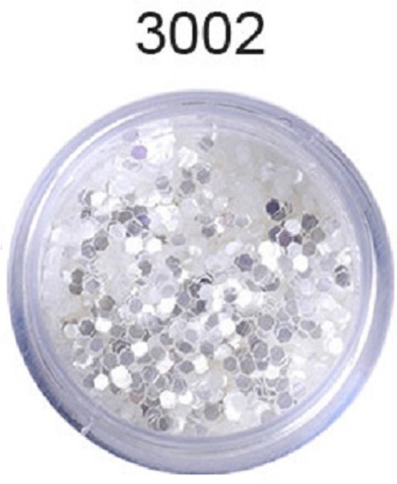 Born Pretty 10ml Box Mixed Laser Nail Glitter Tips White Silver Glitter 1mm  sequins Shiny Nail Glitter Powder Nail Art Decoration  3002 (Silver) 351dcd4686f8