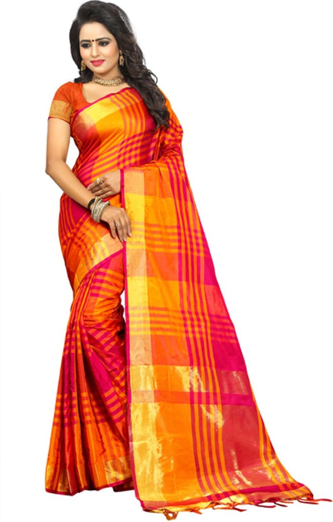 61b1b164f Buy V J Fashion Woven Fashion Art Silk Multicolor Sarees Online ...