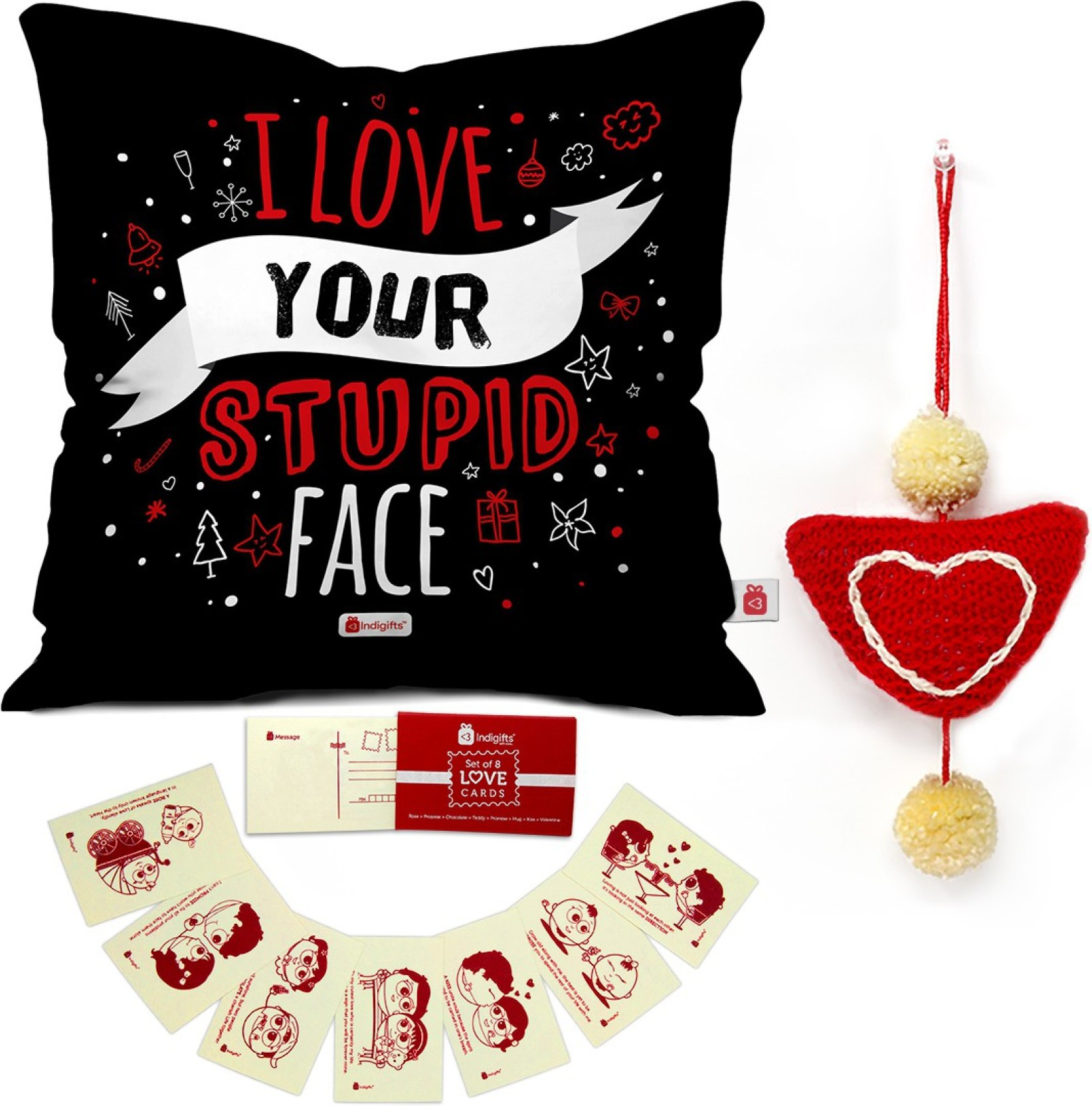 Indi ts 0D 0CM069 0LOV Y16 D096 Cushion Greeting Card Showpiece
