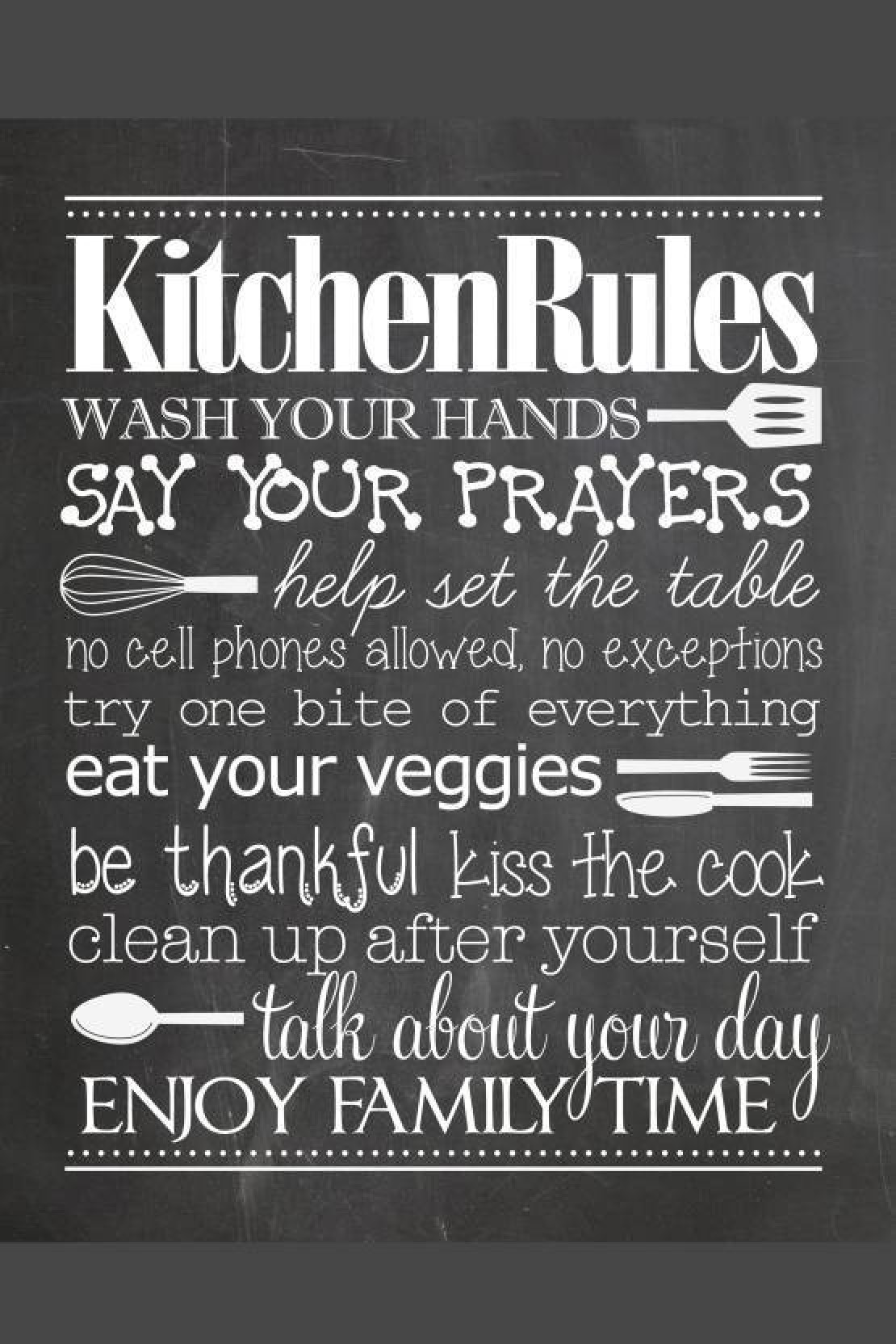 Wingage oshi kitchen rules paper printed poster 12x18inch paper print 18 inch x 12 inch