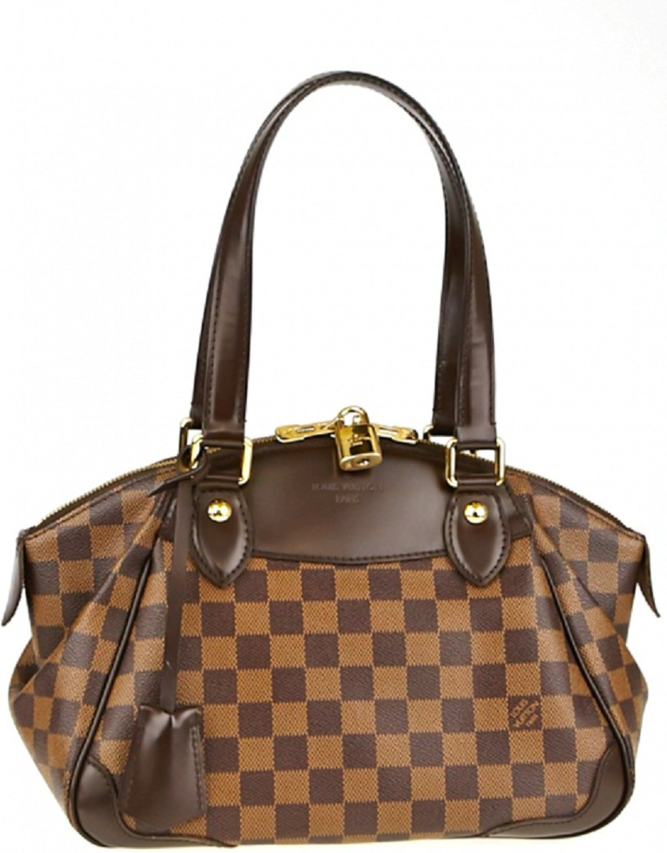 37cb012f461b Louis Vuitton Damier Ebene Verona PM Waterproof Shoulder Bag (Brown