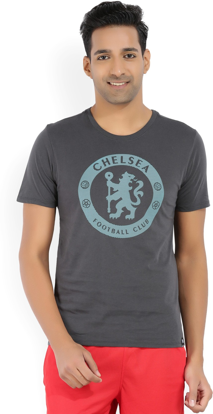 Nike Chelsea FC Printed Men Round Neck Grey f444950a7