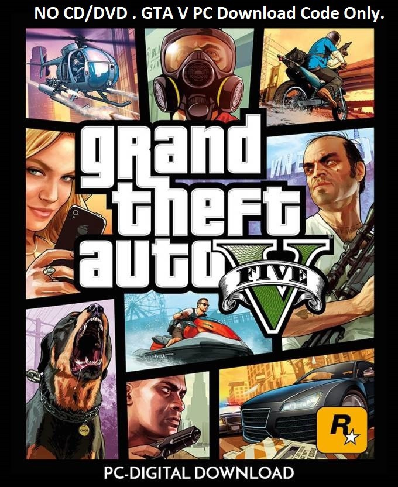 Grand Theft Auto V ROCKSTAR Download code only (No CD/DVD)