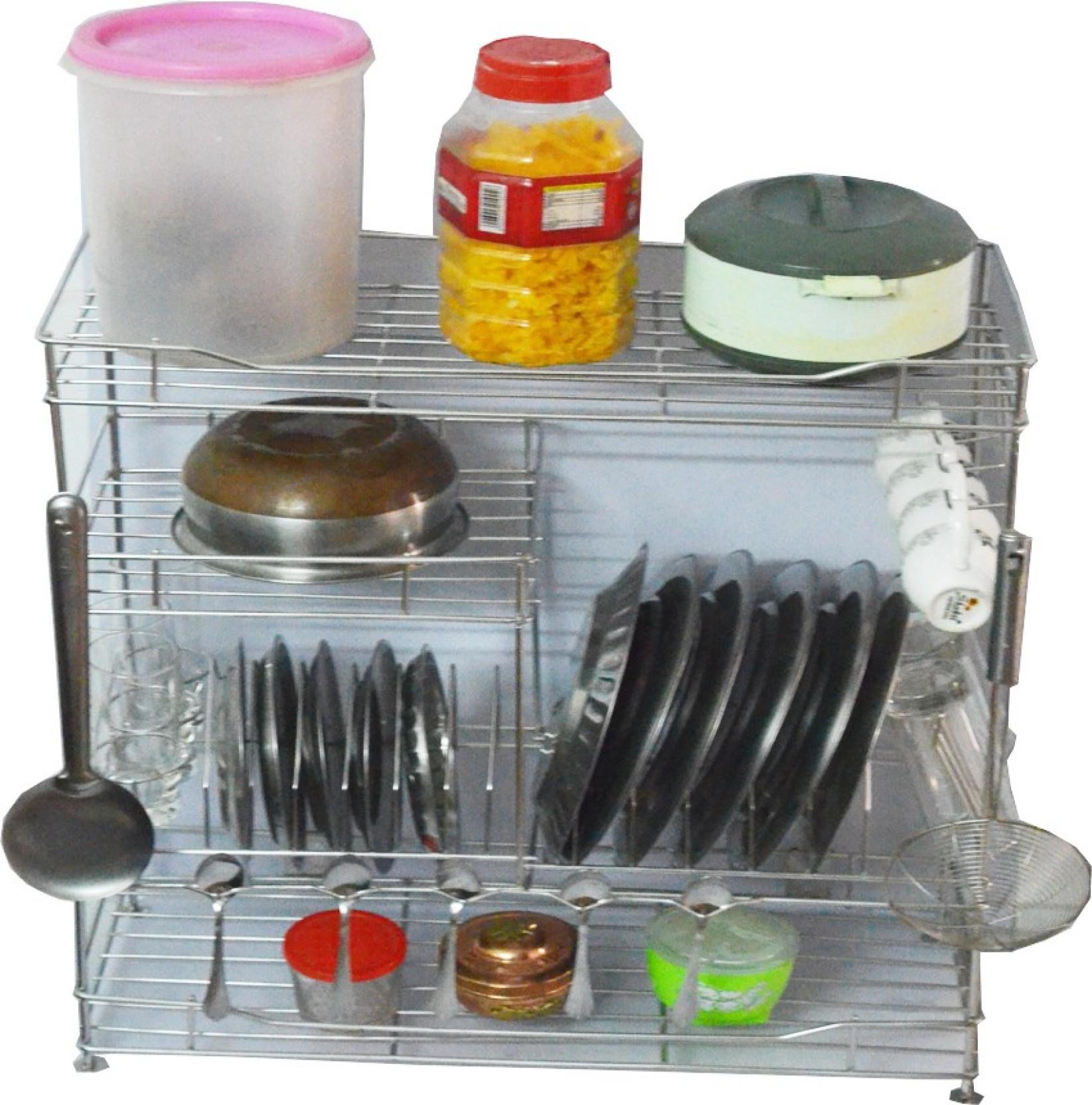Gehwara Stainless Steel Kitchen Rack 24 inch X 24 inch X 10 inch ...