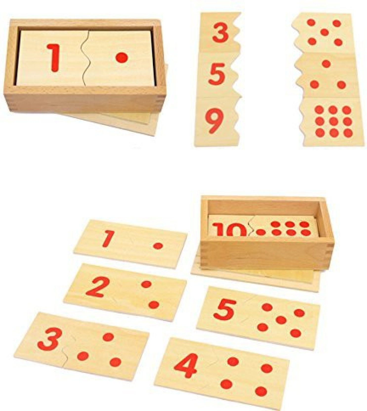 the single mom montessori digital puzzle wooden toys