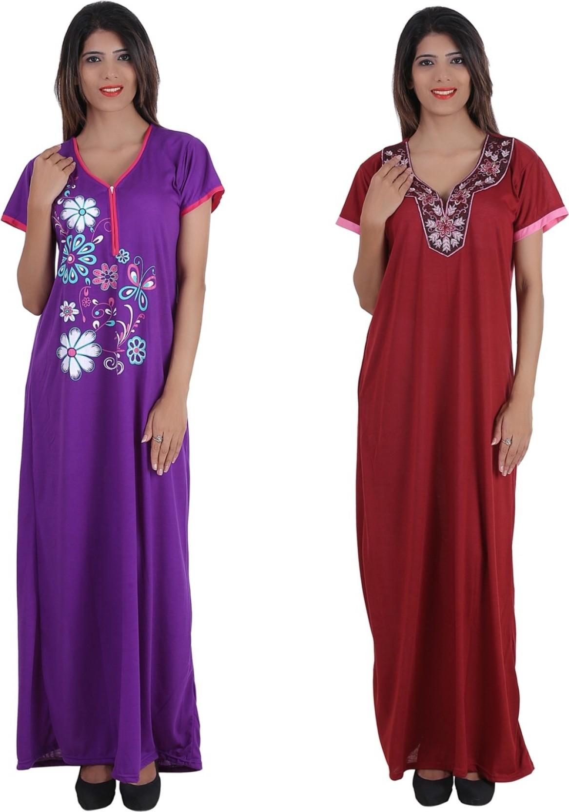 Plus Size Cotton Nighties Online India | Lauren Goss