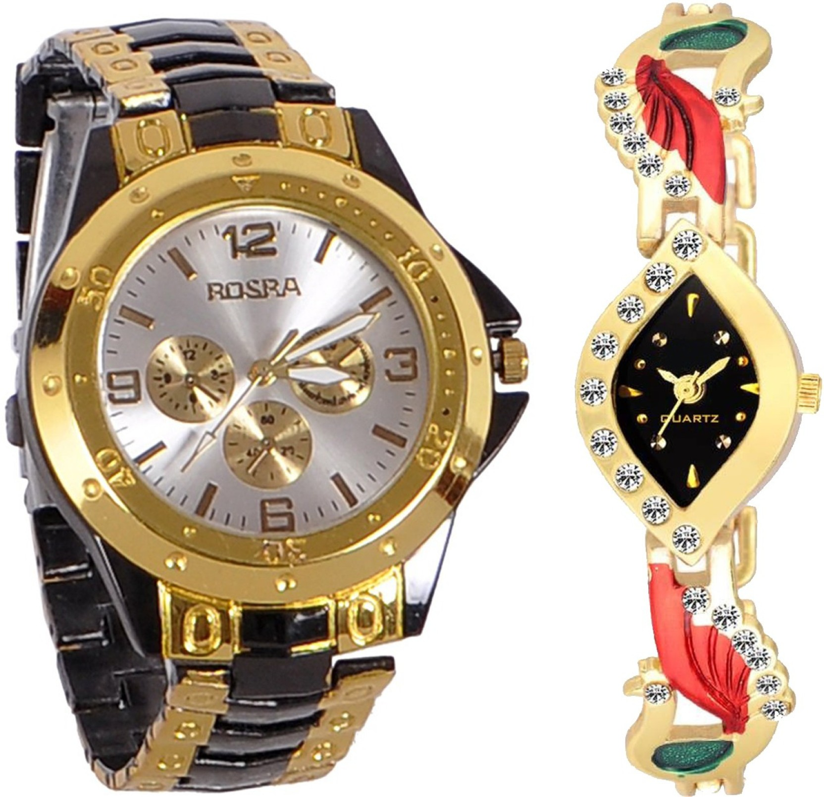 To acquire Stylish rosra analog silver metal wrist watch picture trends