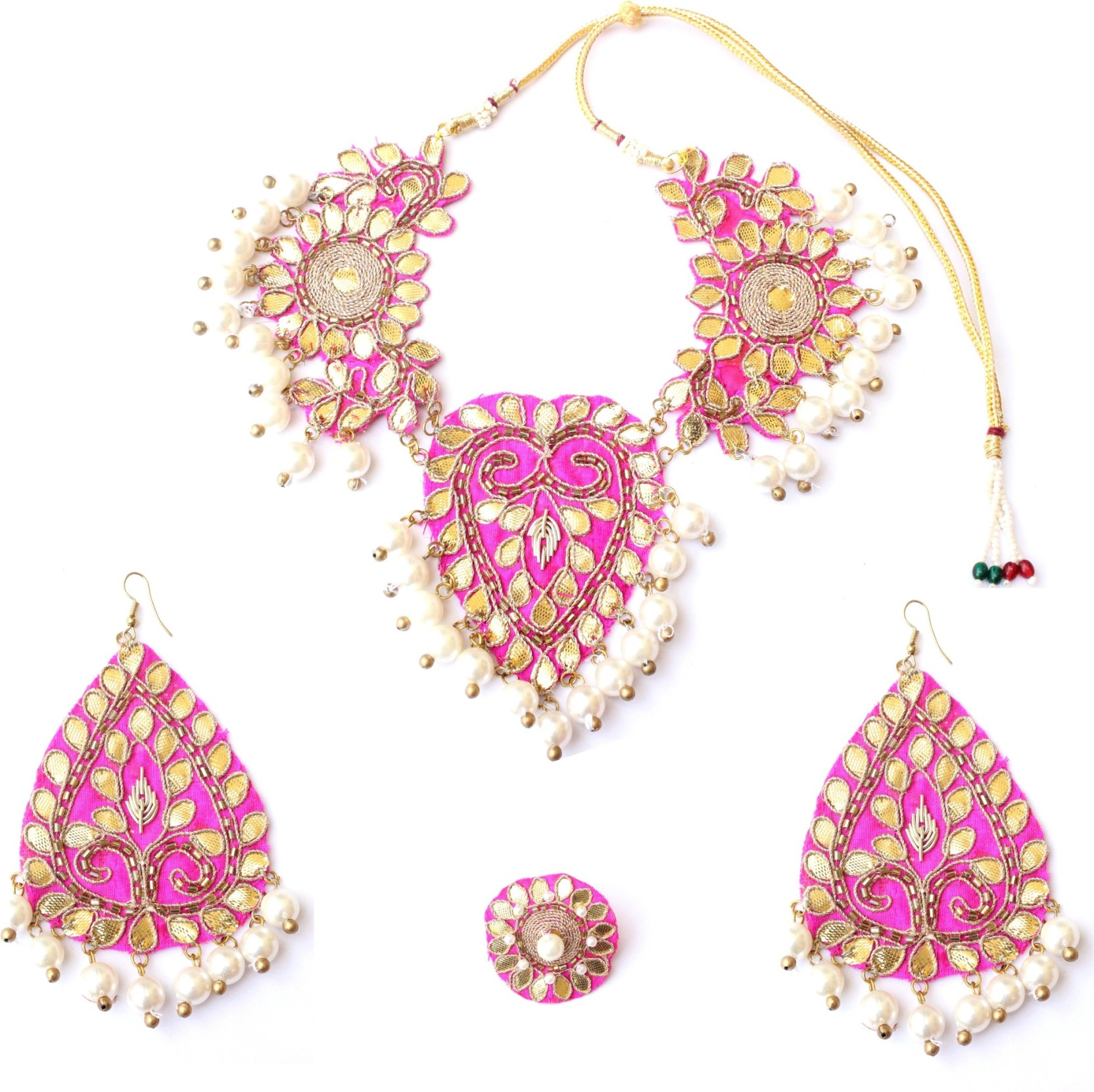 BE BOLD DESIGN BY DEEPIKA Fabric Jewel Set Price in India - Buy BE ...