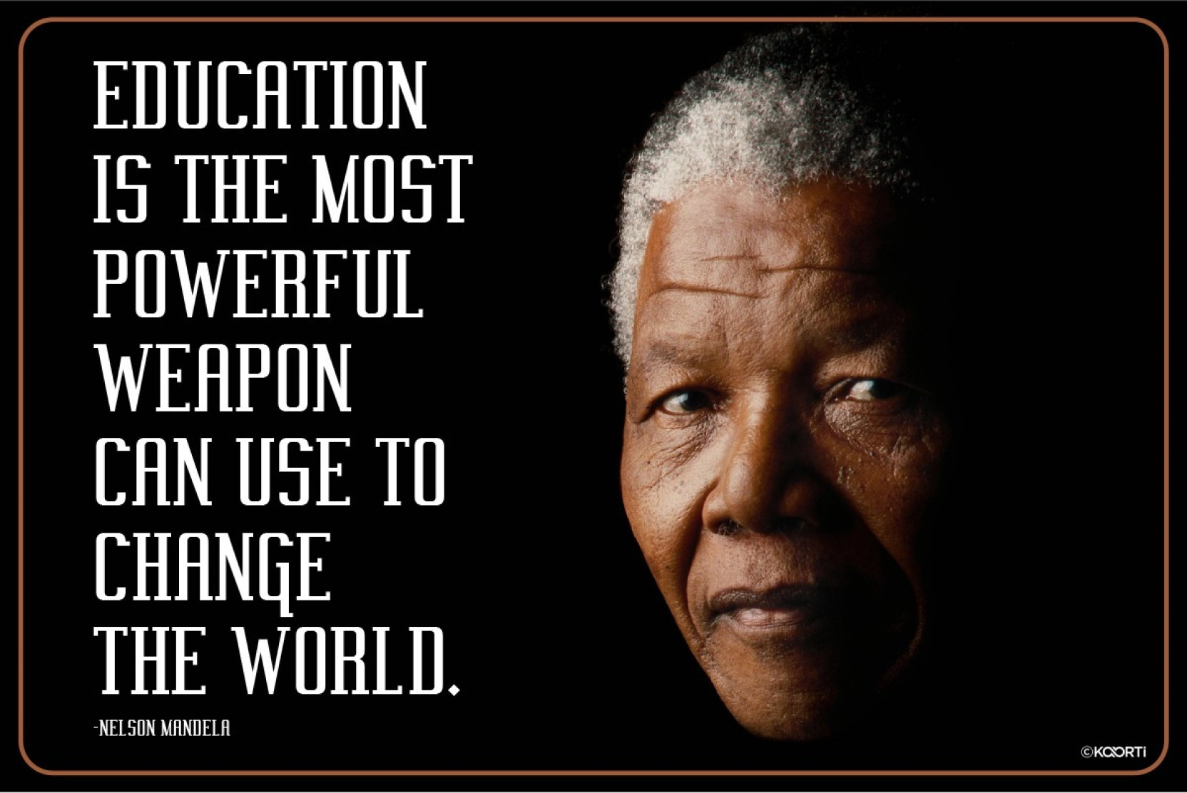 education is the most powerful nelson mandela quote mini sticker
