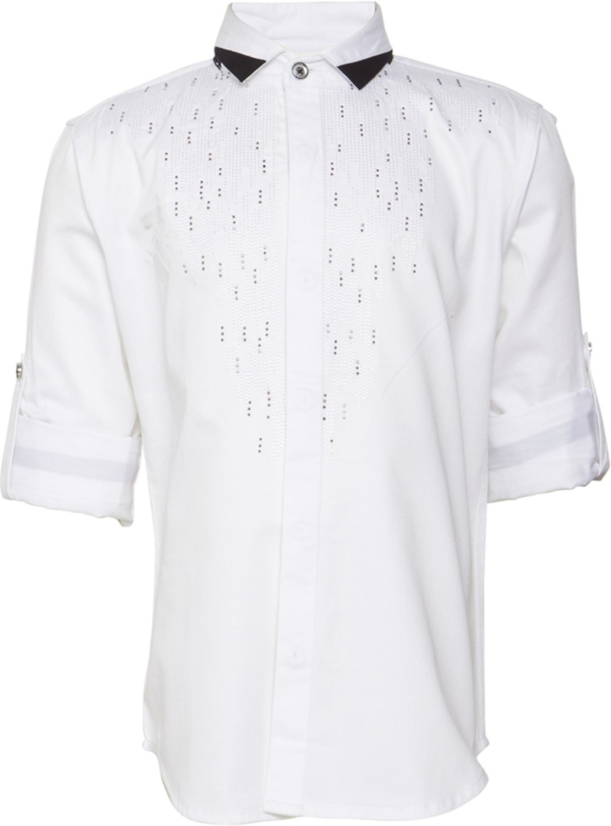 ed3e70c5ea7f OKS BOYS Boy's Embroidered Casual Spread Shirt - Buy OKS BOYS Boy's ...