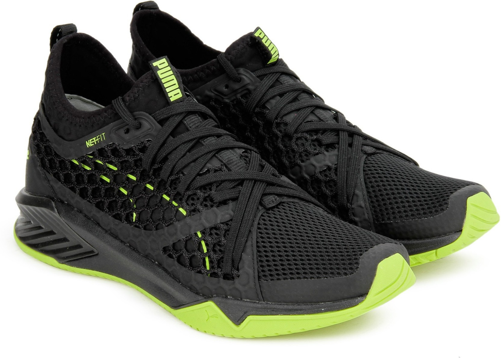 newest 1d759 e125a Puma IGNITE XT NETFIT Wn s Training   Gym Shoes For Women (Black, Yellow)