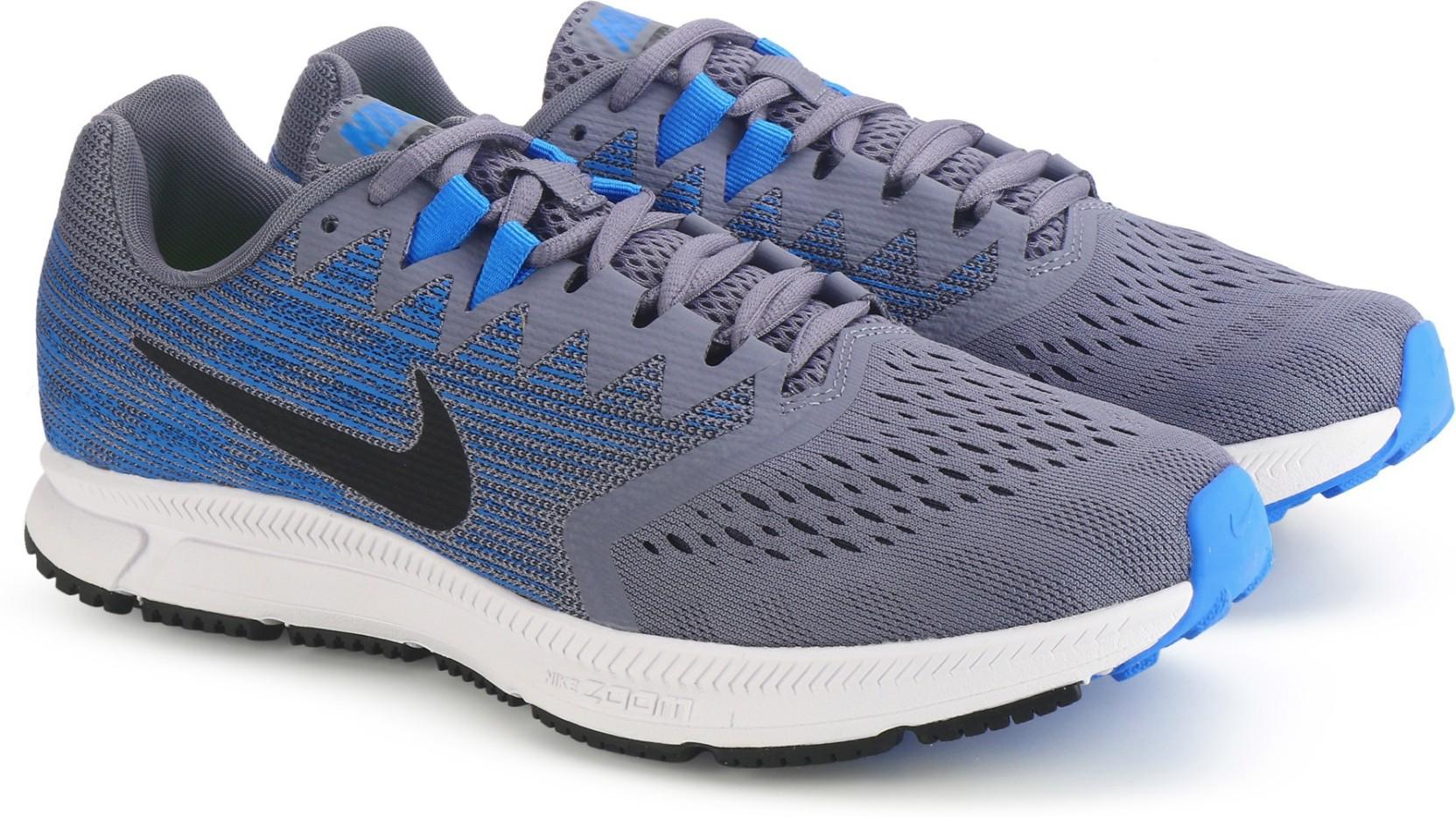 66e29f9c411eb Nike ZOOM SPAN 2 Running Shoes For Men - Buy DARK SKY BLUE BLACK ...