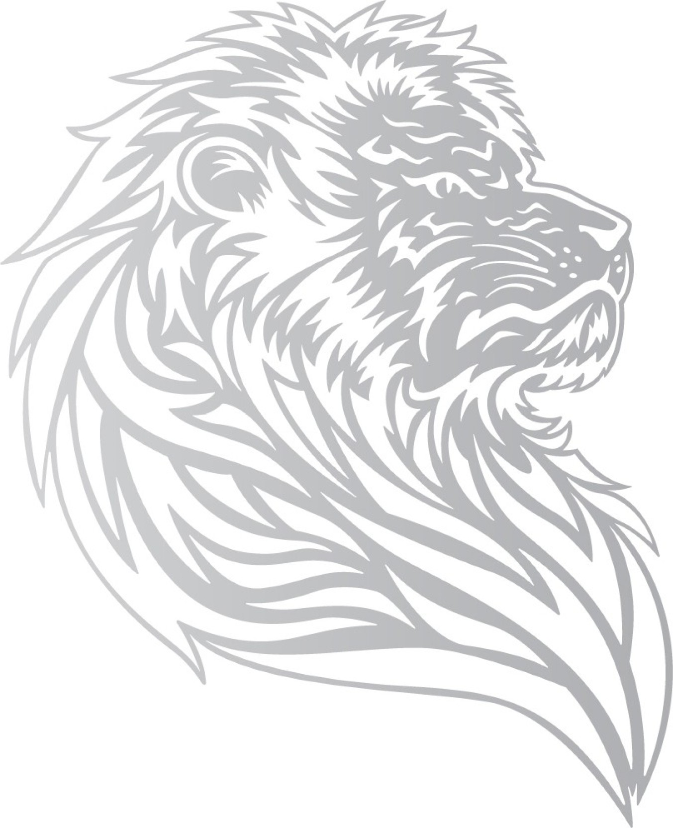 Wall design bike graphics and stickers lion pride silver colour reflective vinyl motorcycle design sticker pack of 1