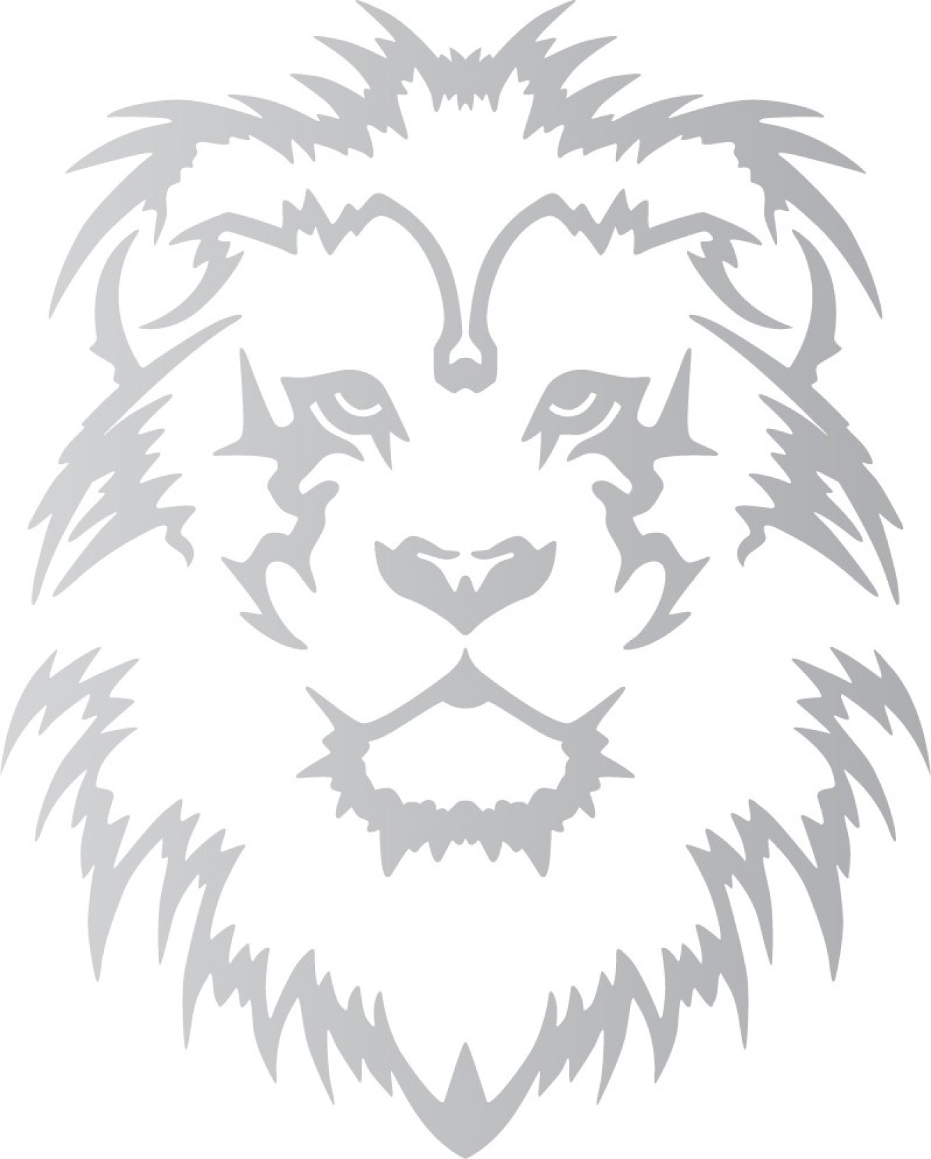 Wall design stickers for bikes online lion king silver colour reflective vinyl motorcycle design sticker pack of 1