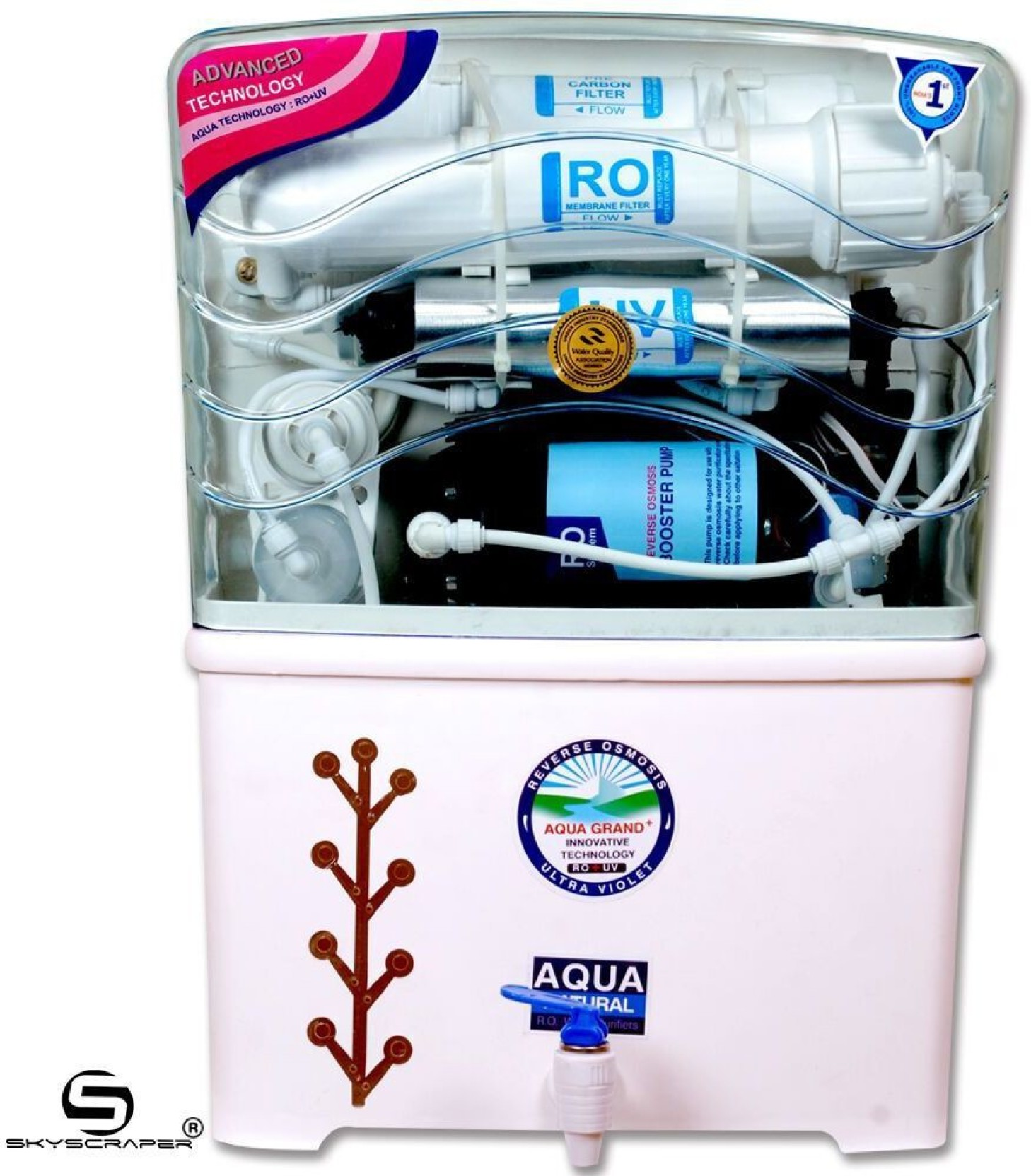 Aquagrand Plus Star 12 L RO + UV + UF + TDS Water Purifier ...