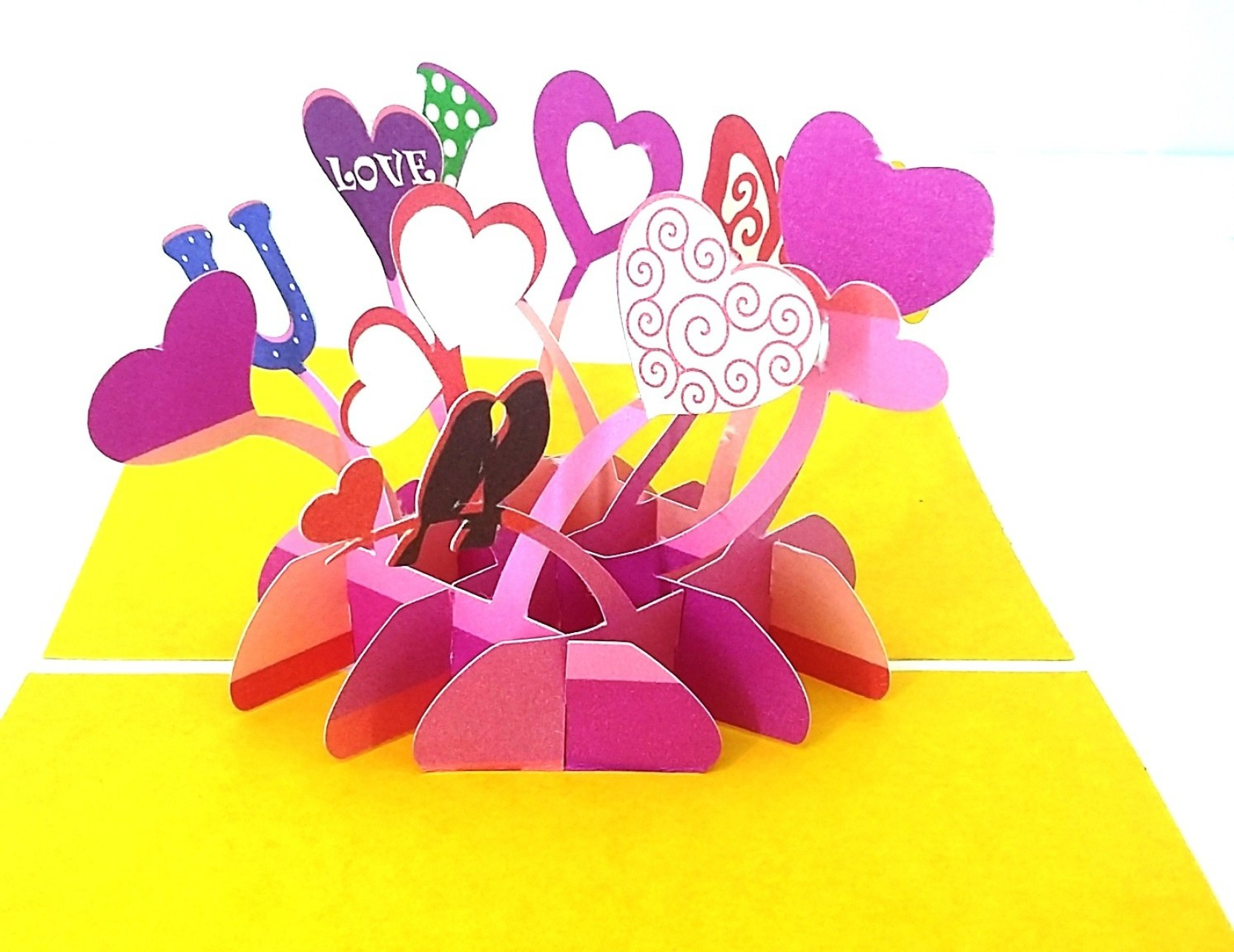KONKAN MART 3D PopUp Card Love Anniversary Proposal Greeting Card ...
