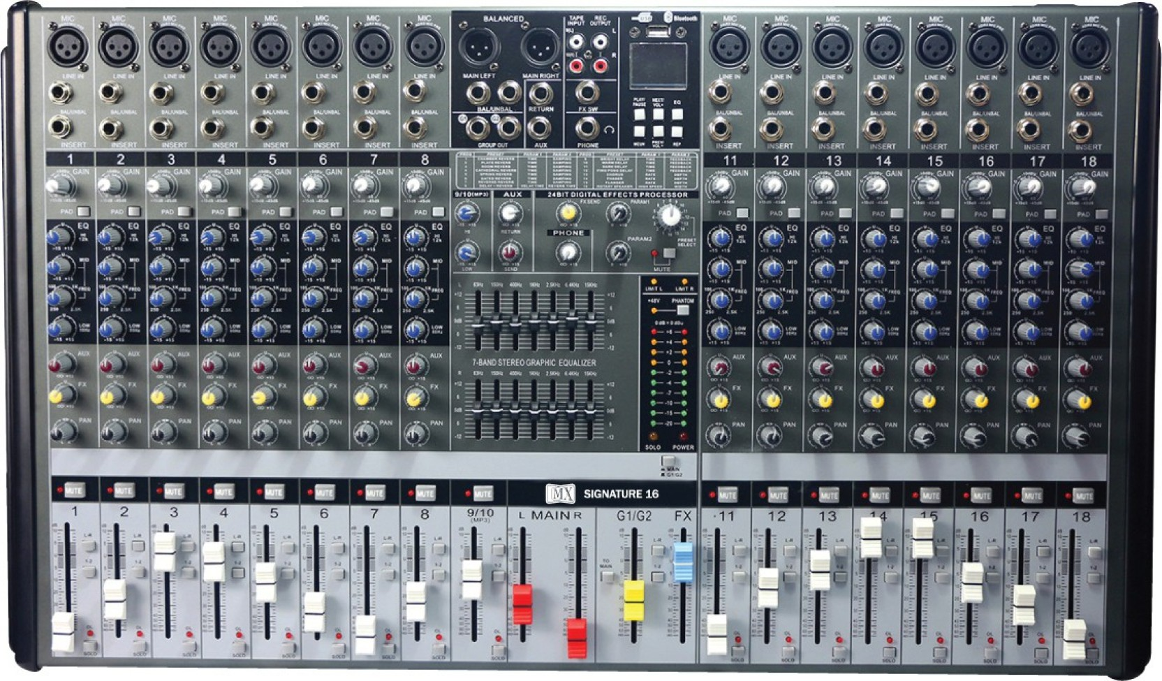 Mx Live Audio Mixer 16 Channel Professional With Usb 5 Portable Add To Cart