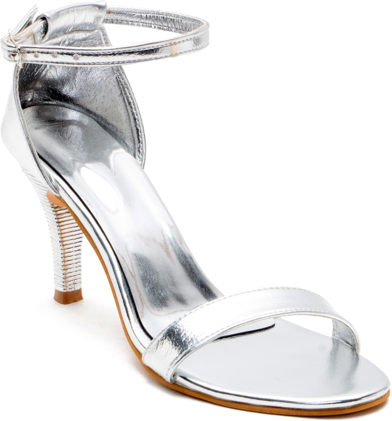 972866f7bb8 NaaZ Women Silver Heels - Buy Silver Color NaaZ Women Silver Heels ...