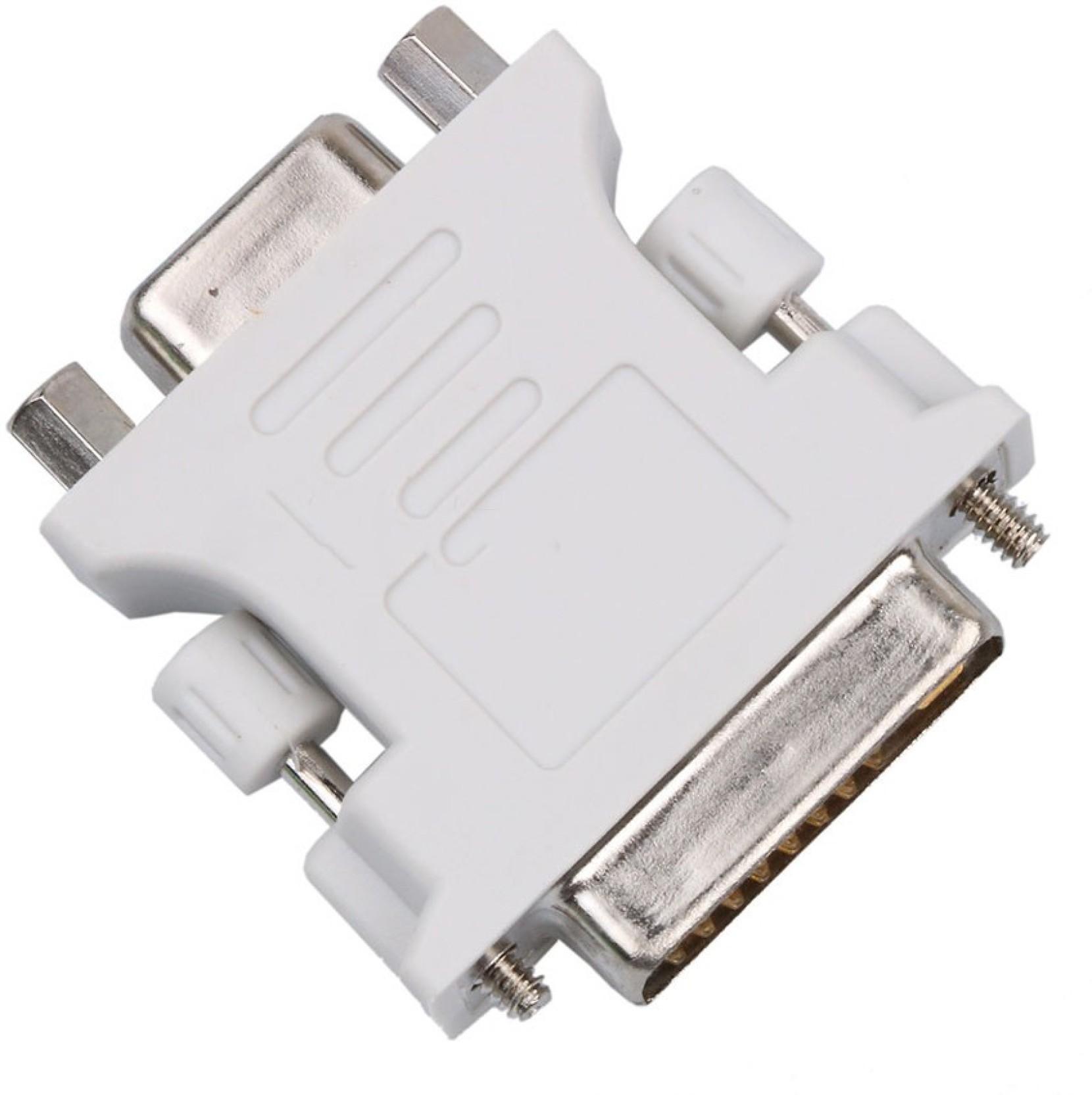 DVI-I 24+5 Pin Male To HD15 Pin VGA Female Adapter Convertor M to F DVI I to VGA