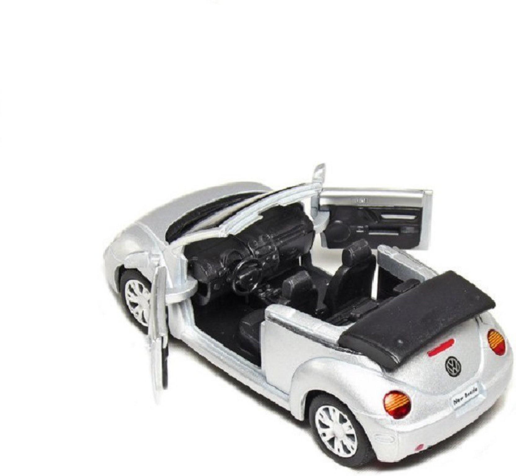 "2003 Volkswagen New Beetle Convertible Black Die Cast Metal Model 5/"" New In Box"