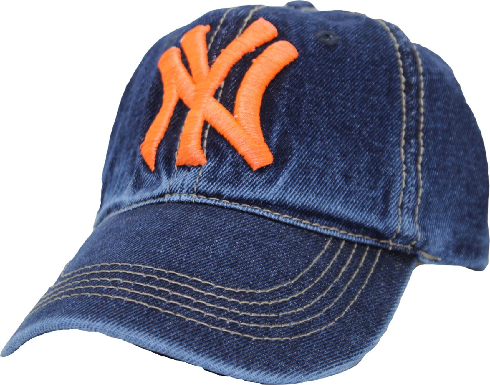a9353278ace Friendskart Solid Denim NY hat Spring summer bone trucker Baseball ...