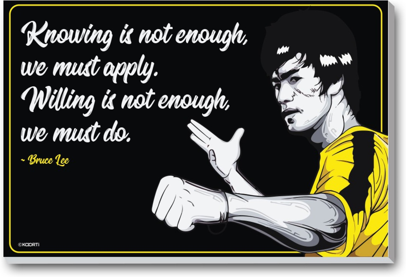 Knowing Is Not Enough We Must Bruce Lee Quote Mini Laminated