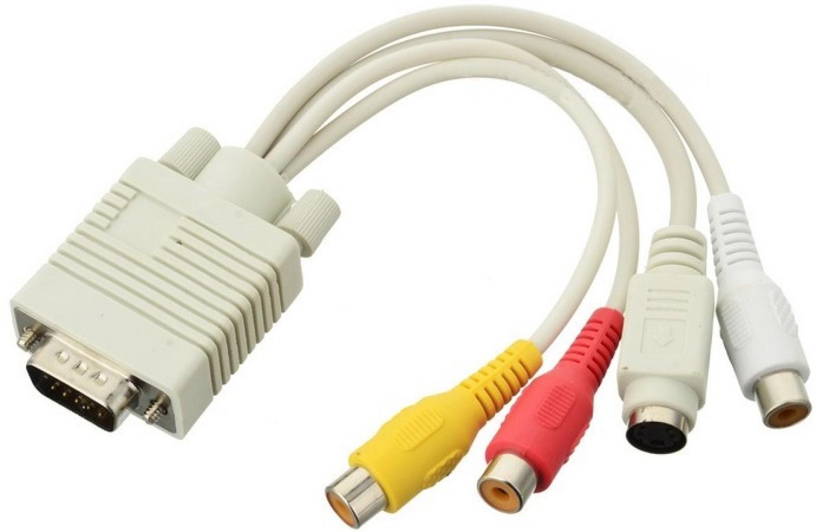 De Techinn Vga Male To S Video Cable Av Tv Adapter Converter For Pc Schematic Home