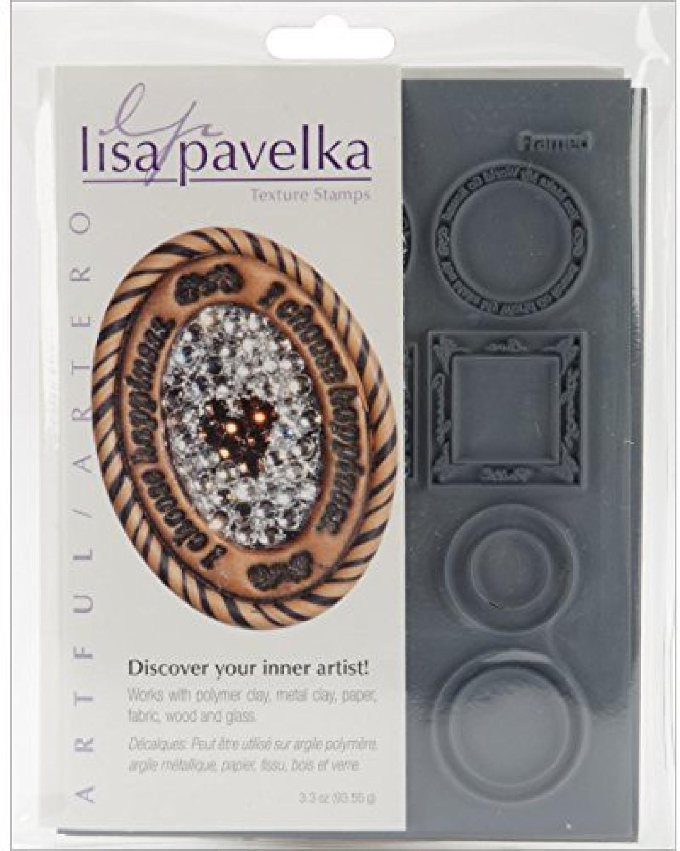 JHB International Inc Great Create Lisa Pavelka Individual Texture Stamp 4.25X5.5 1//Pkg-Paisley