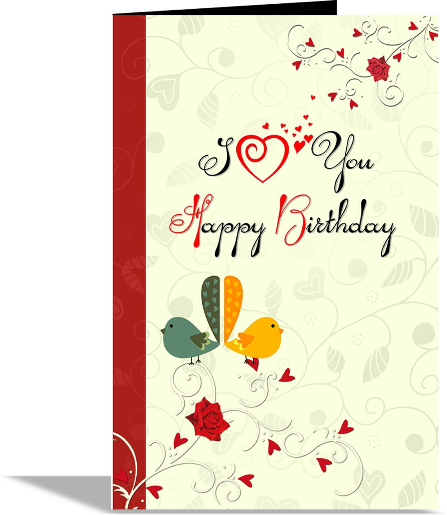 Alwaysgift I Love You Happy Birthday Greeting Card Greeting Card