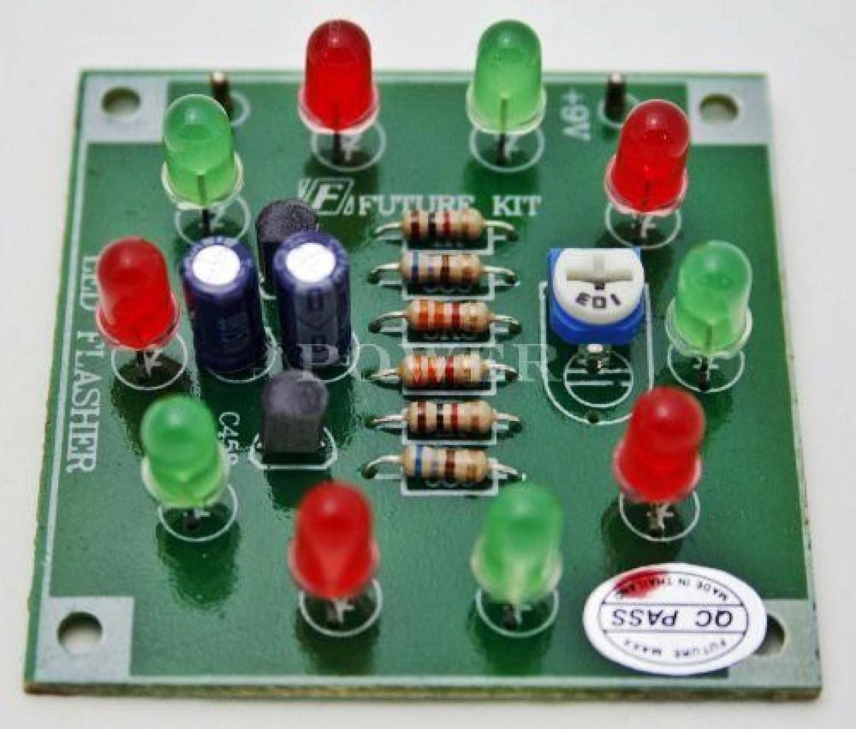 Generic Led Flasher 10 Dot Electronic Circuit Kit Free Shipping 200w Lamp On Offer