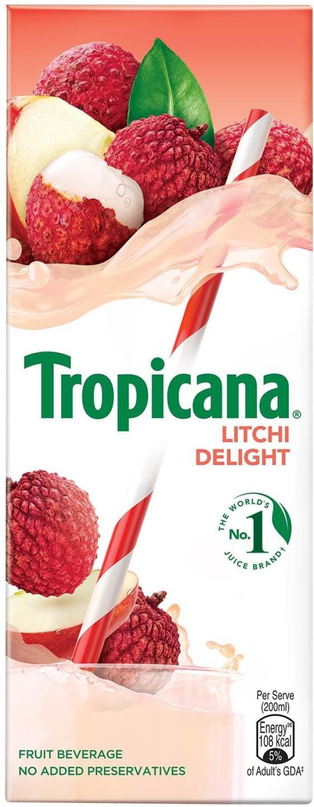 Tropicana Litchi Delight Fruit Beverage 200 ml
