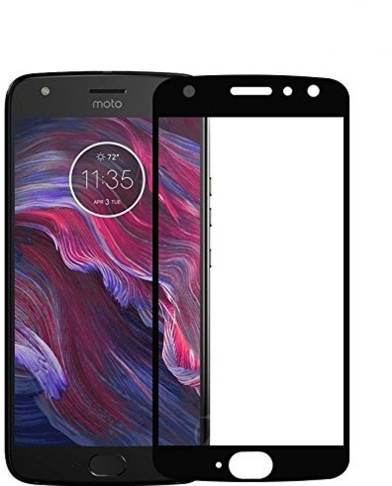 Marshland Tempered Glass Guard For Moto X4 Full Glue Quality Screen Blackberry Keyone Cover Ampamp Curved Black Protector 9h Extreme Hardness Edge Share