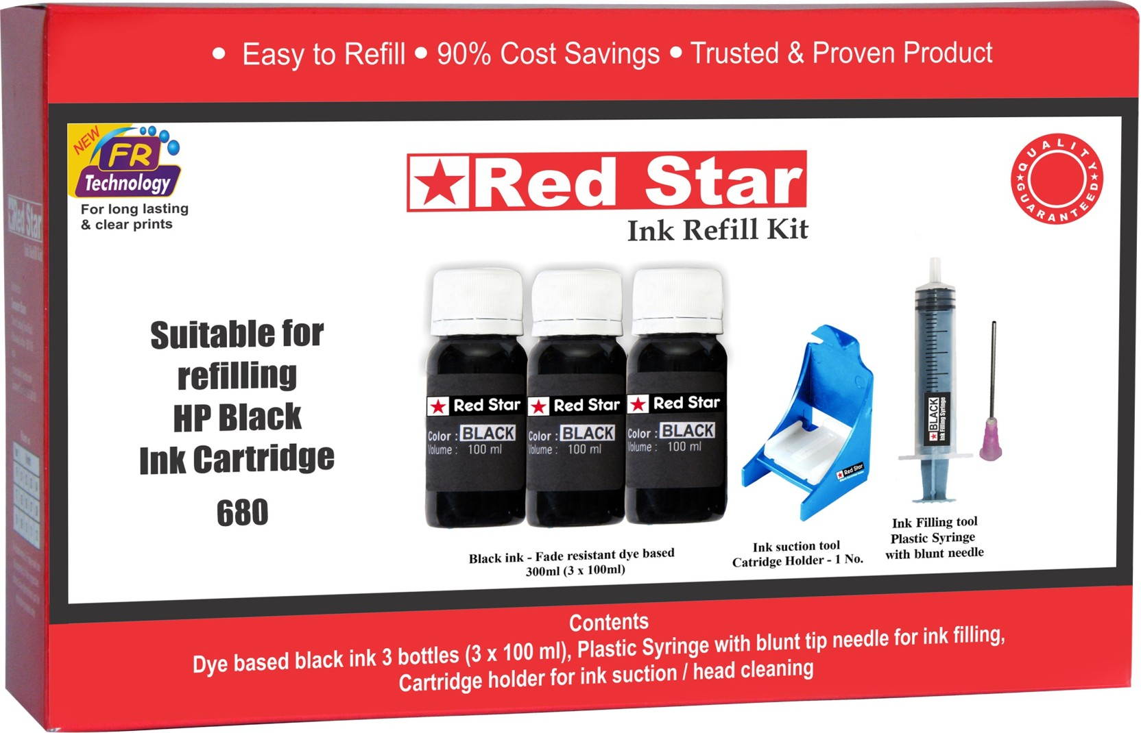 Red Star Ink Refill Kit For Hp 680 Black Cartridge Single Color Colour Add To Cart