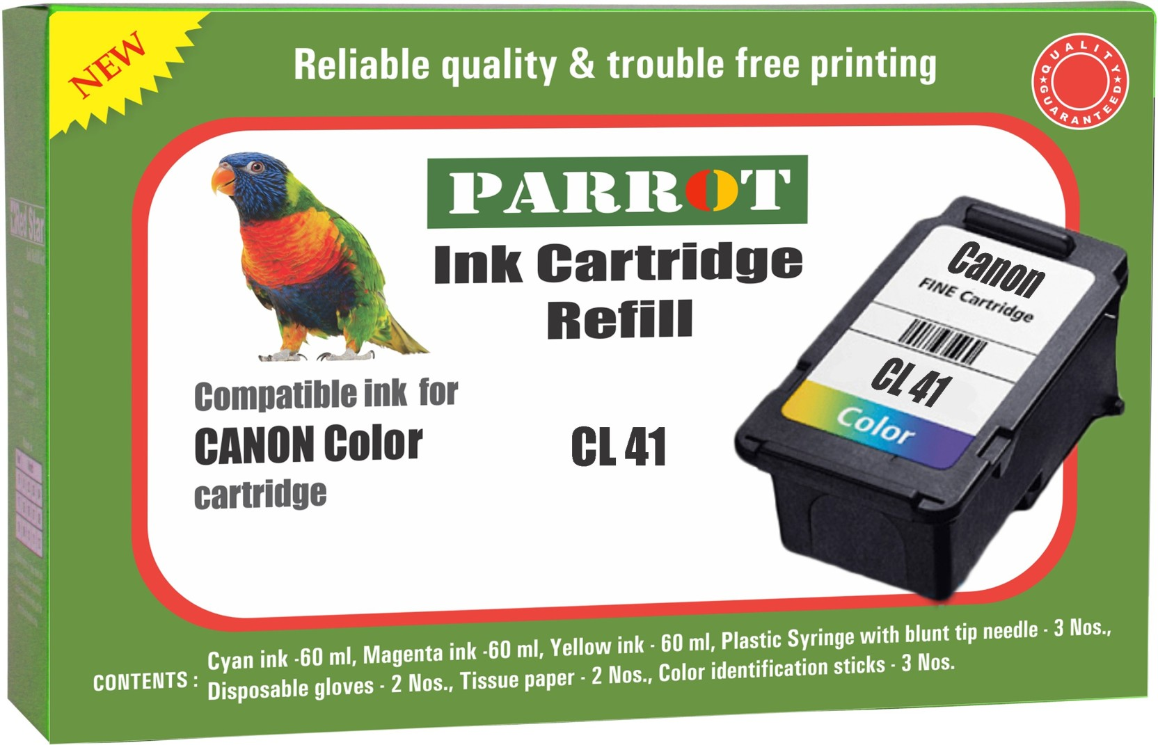 Parrot Ink Cartridge Refill For Canon 41 Multi Color Cl Colour Original Add To Cart