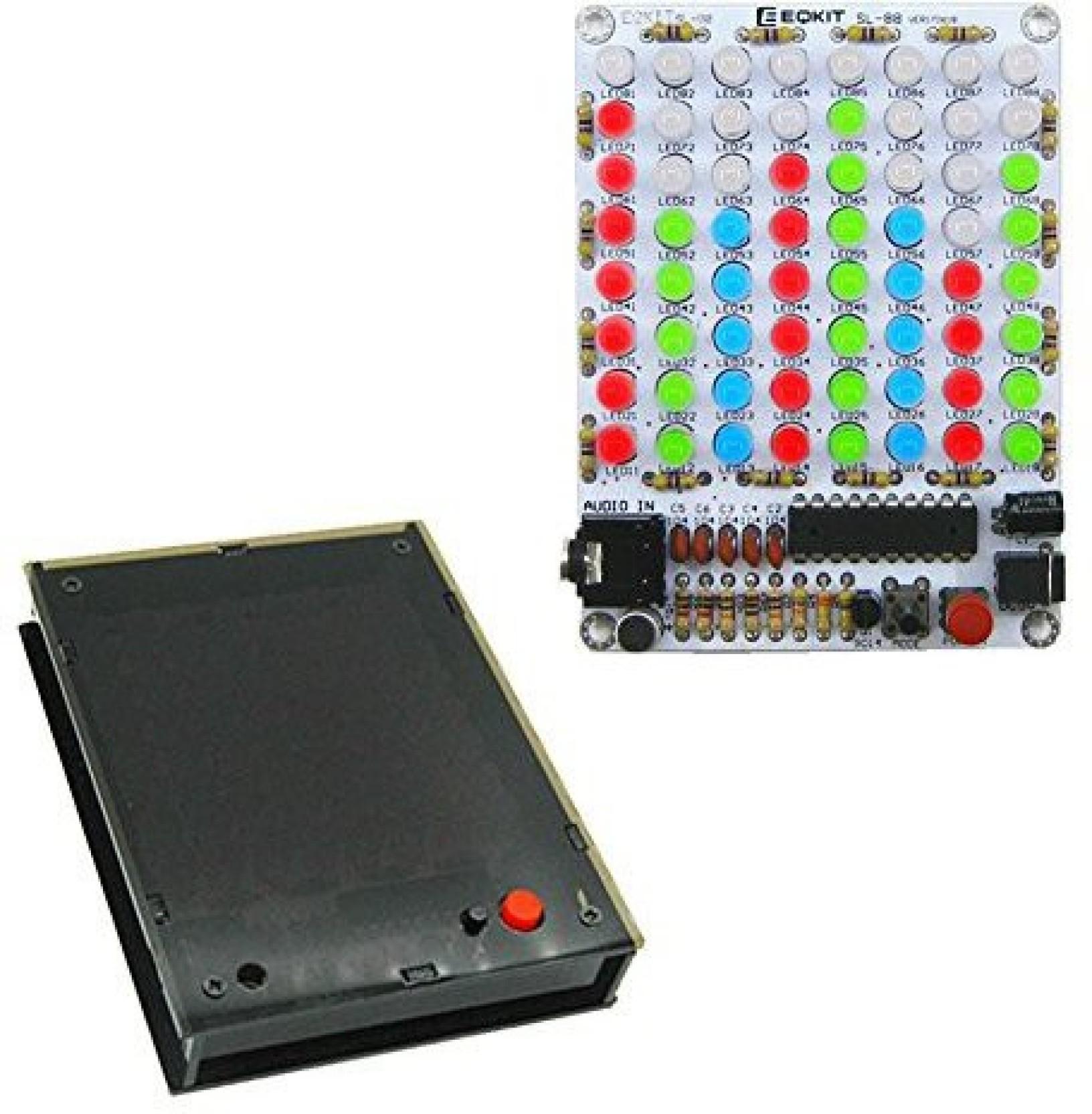 Generic Icstation 8x8 Color Led Sound Audio Spectrum Analyzer Level Circuit Electronic Design On Offer