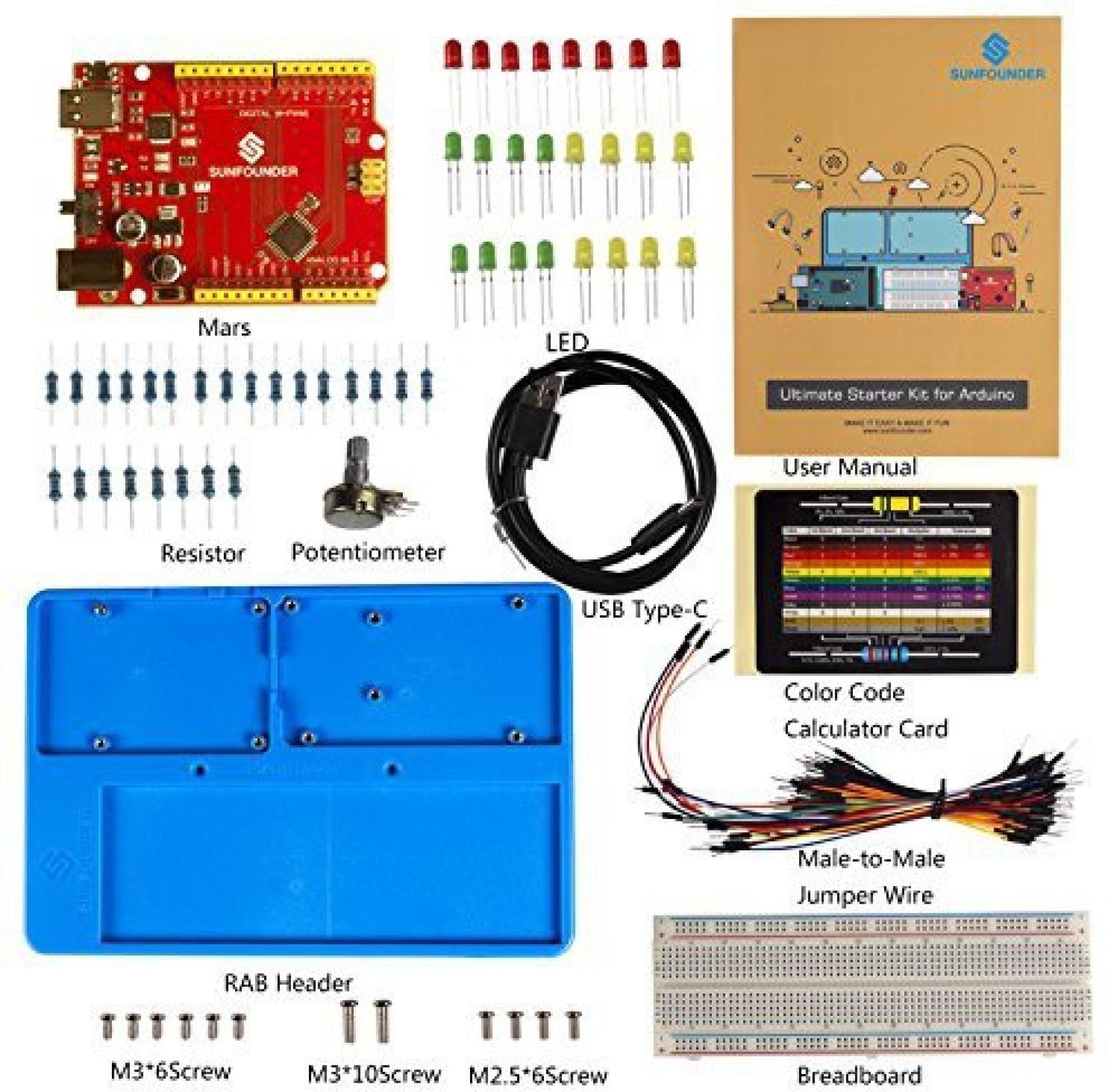Sunfounder Ultimate Starter Kit For Arduino Uno R3 Mega 2560 With Electronics Resistors Color Codes 4 On Offer